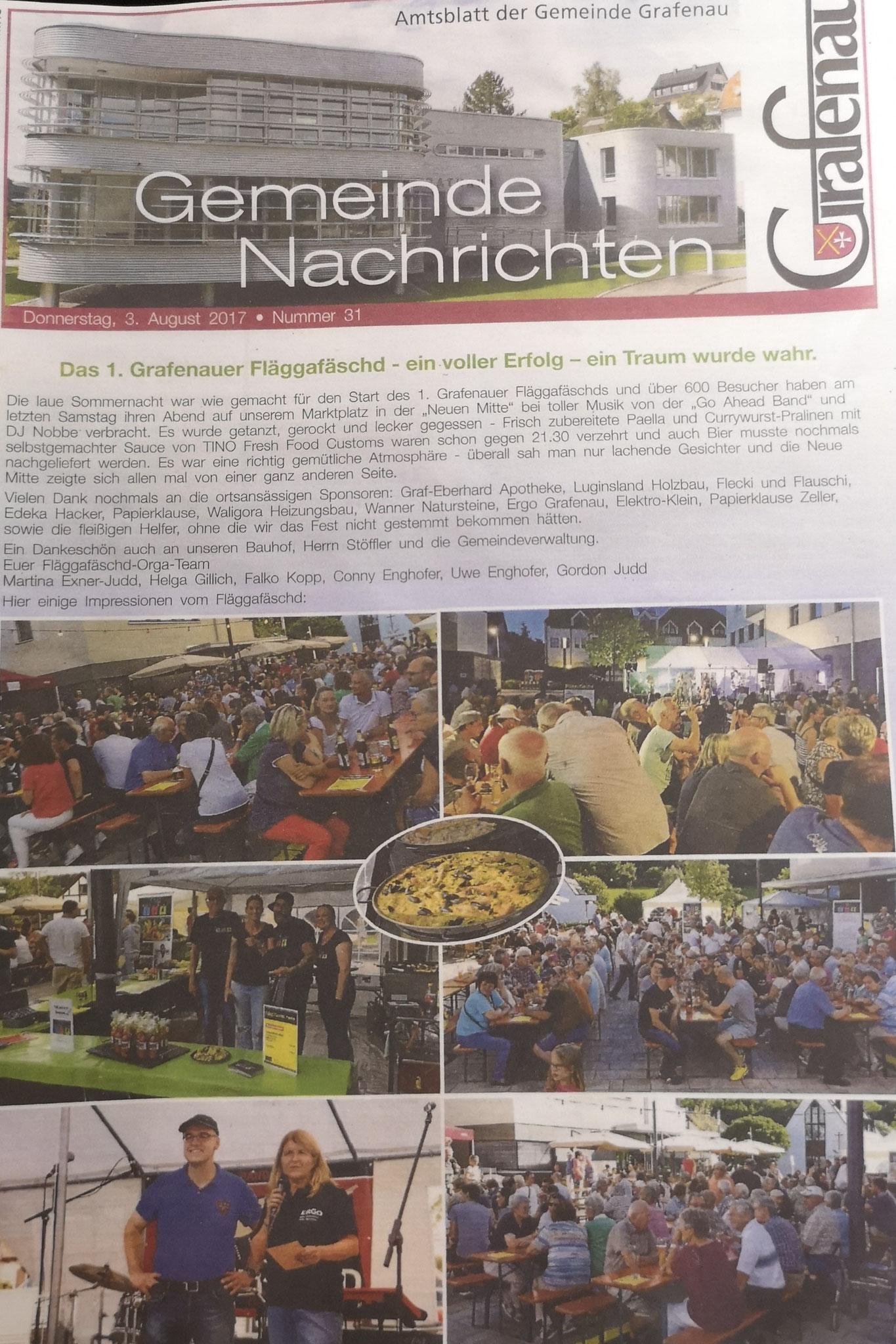 Gemeindeblatt Grafenau Nr. 31 2017