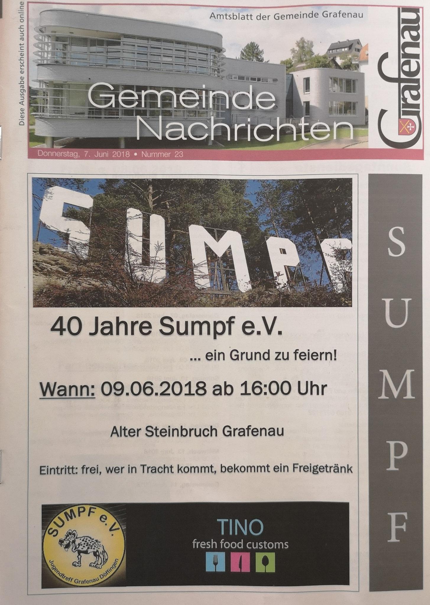 Gemeindeblatt Grafenau Nr. 23 2018