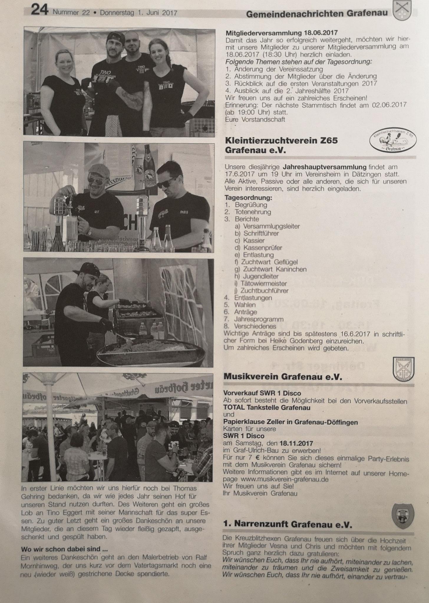 Gemeindeblatt Grafenau Nr. 22 2017