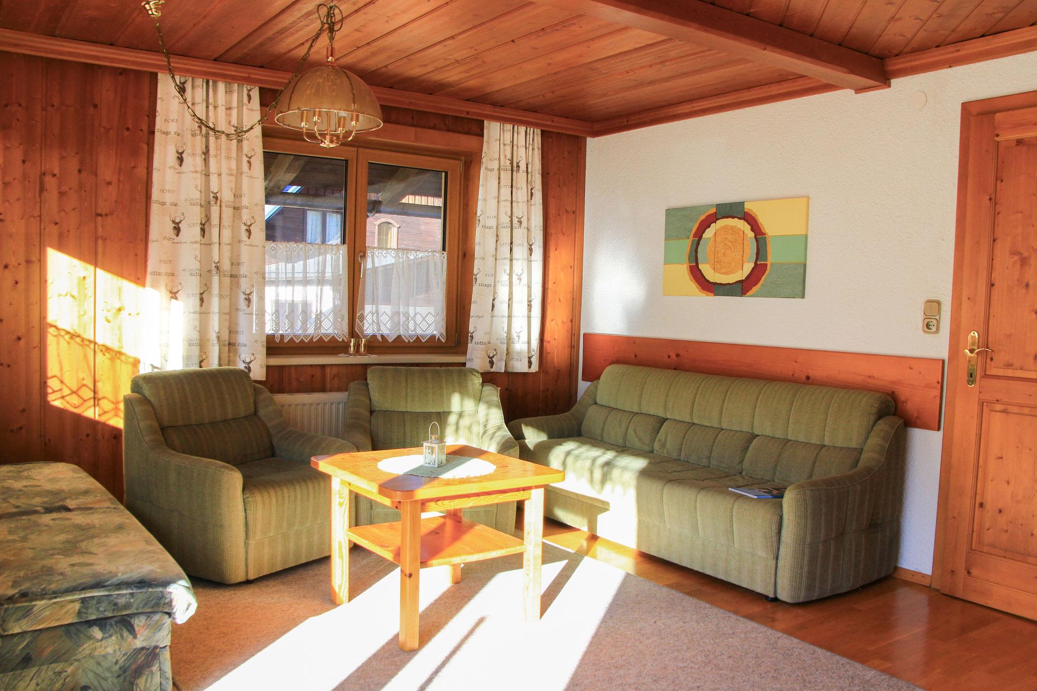 Living room Apartment Hornspitz  ©Christine Bleisch