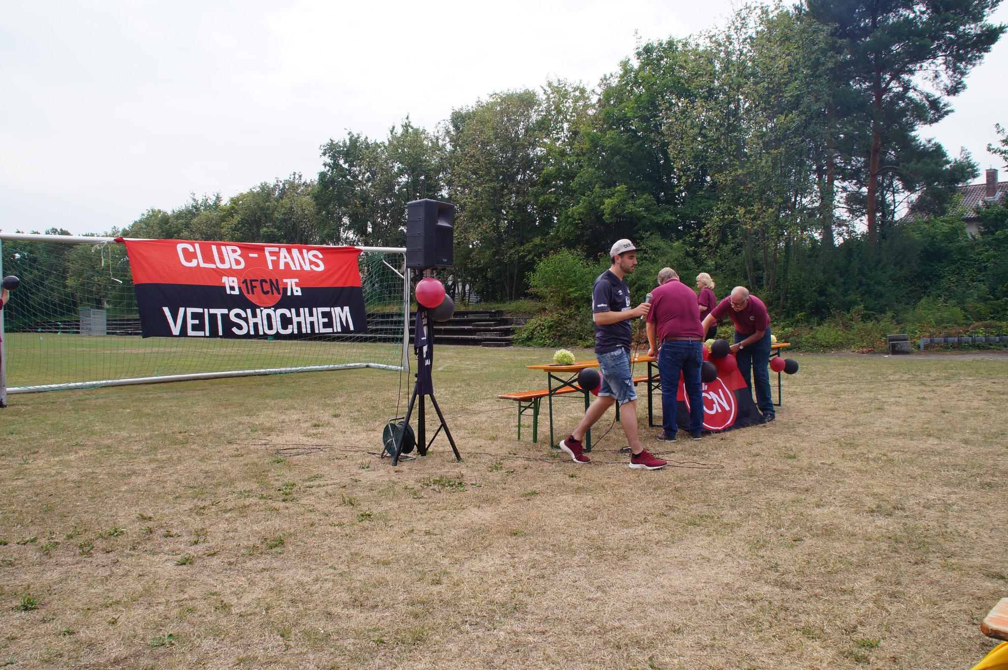 Der Club besucht seine Fan Clubs am 22.07.2018 am Sportgelände des SVV mit Bezirksversammlung des Bezirkes 5