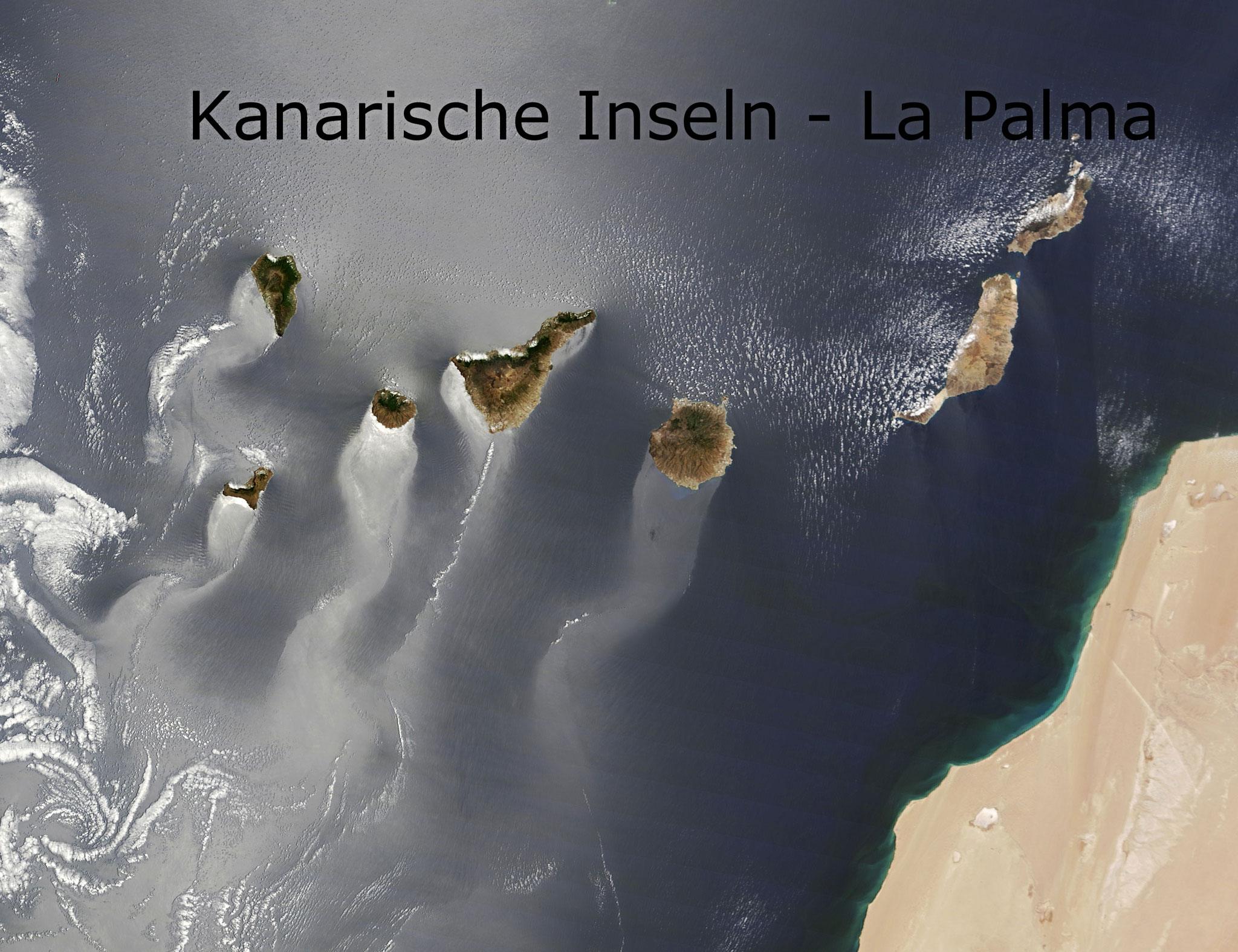 Kanarische Inseln La Palma Vogelperspektive