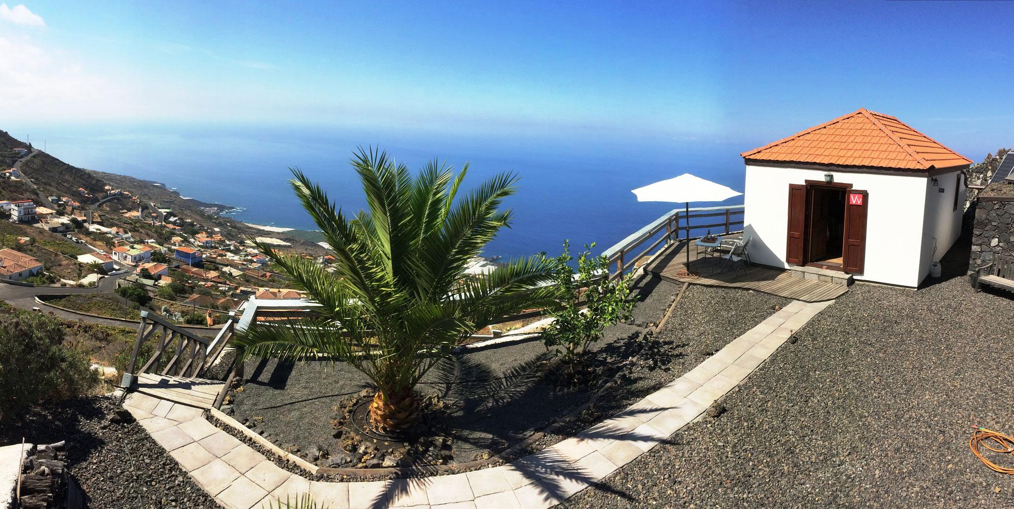 Casa Mirador - Hausansicht Panorama - Las Indias - La Palma
