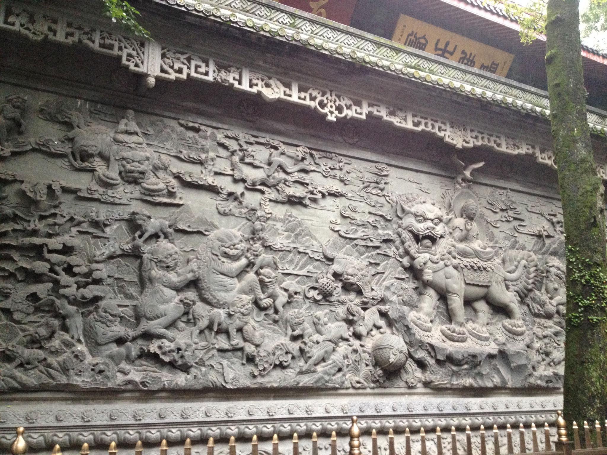 Dämonen am Lingyin Tempel
