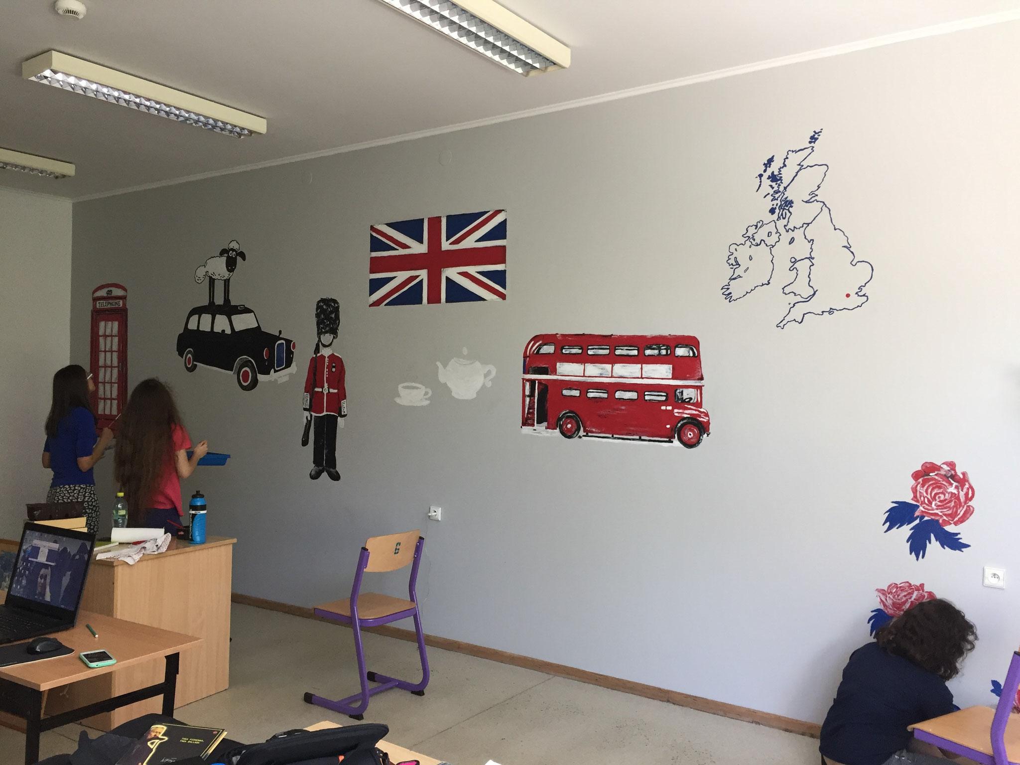 Schüler gestalten den Englischraum I