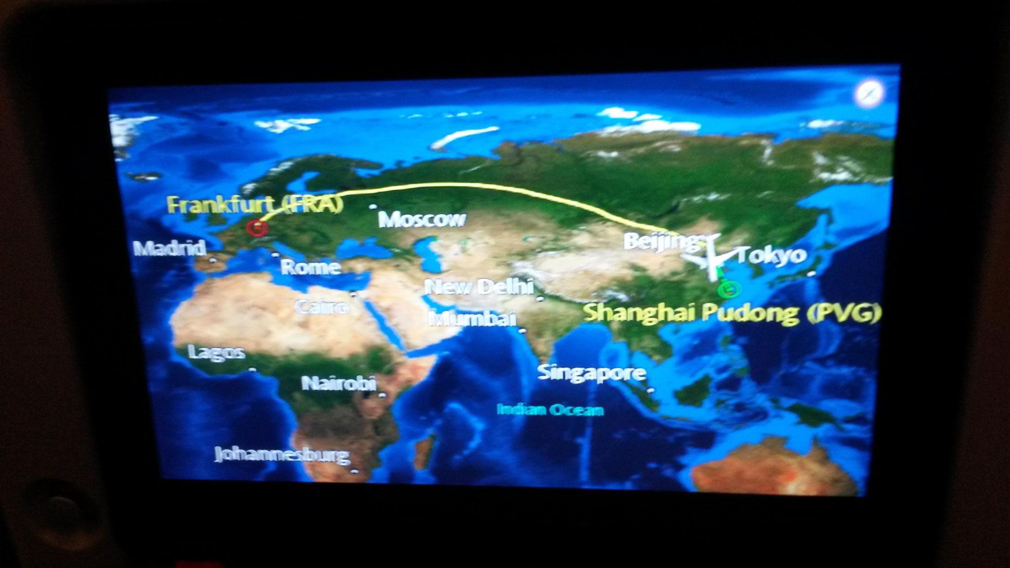 Anflug auf Wuhan