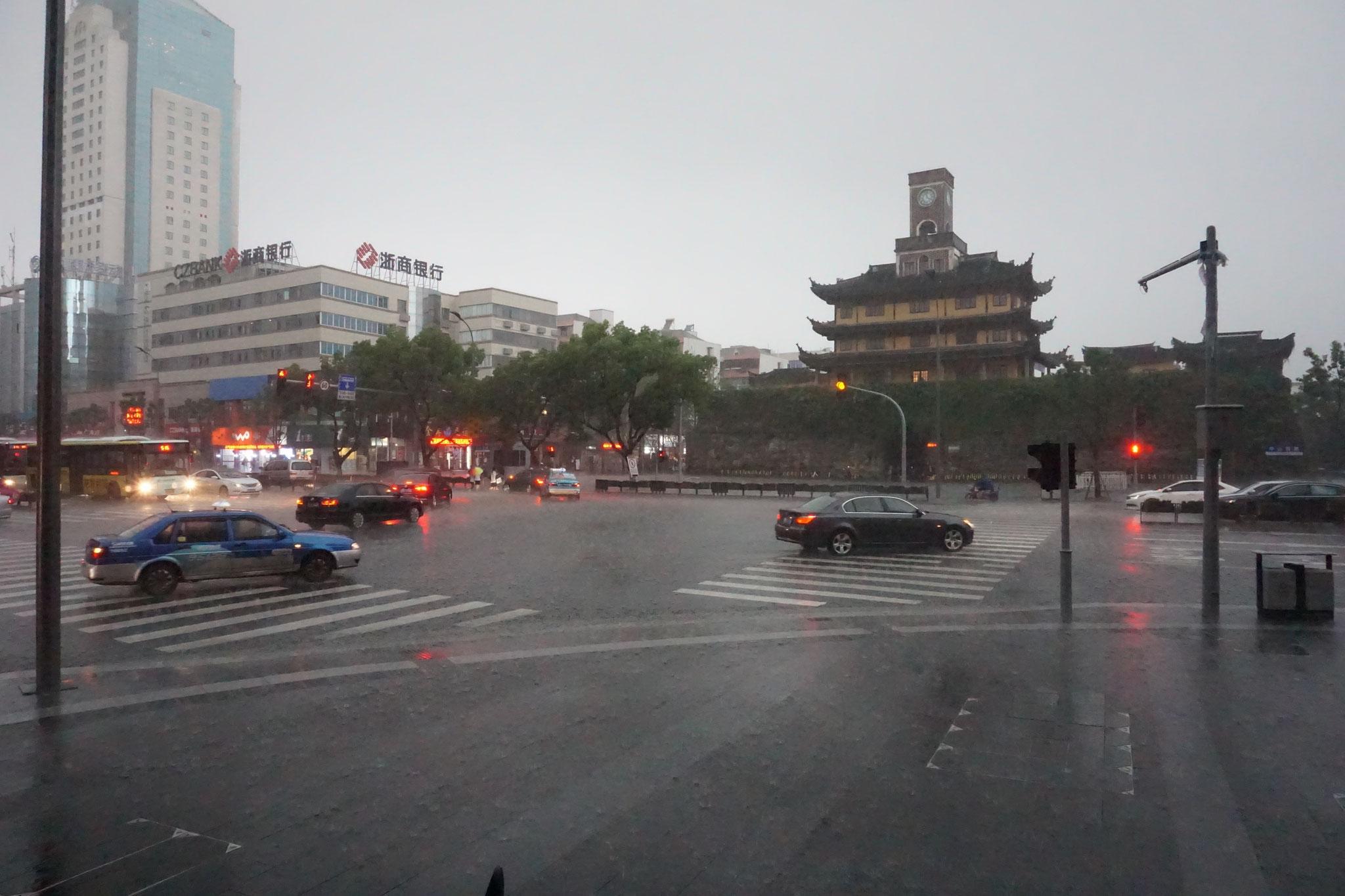 Gulou bei starkem Regen