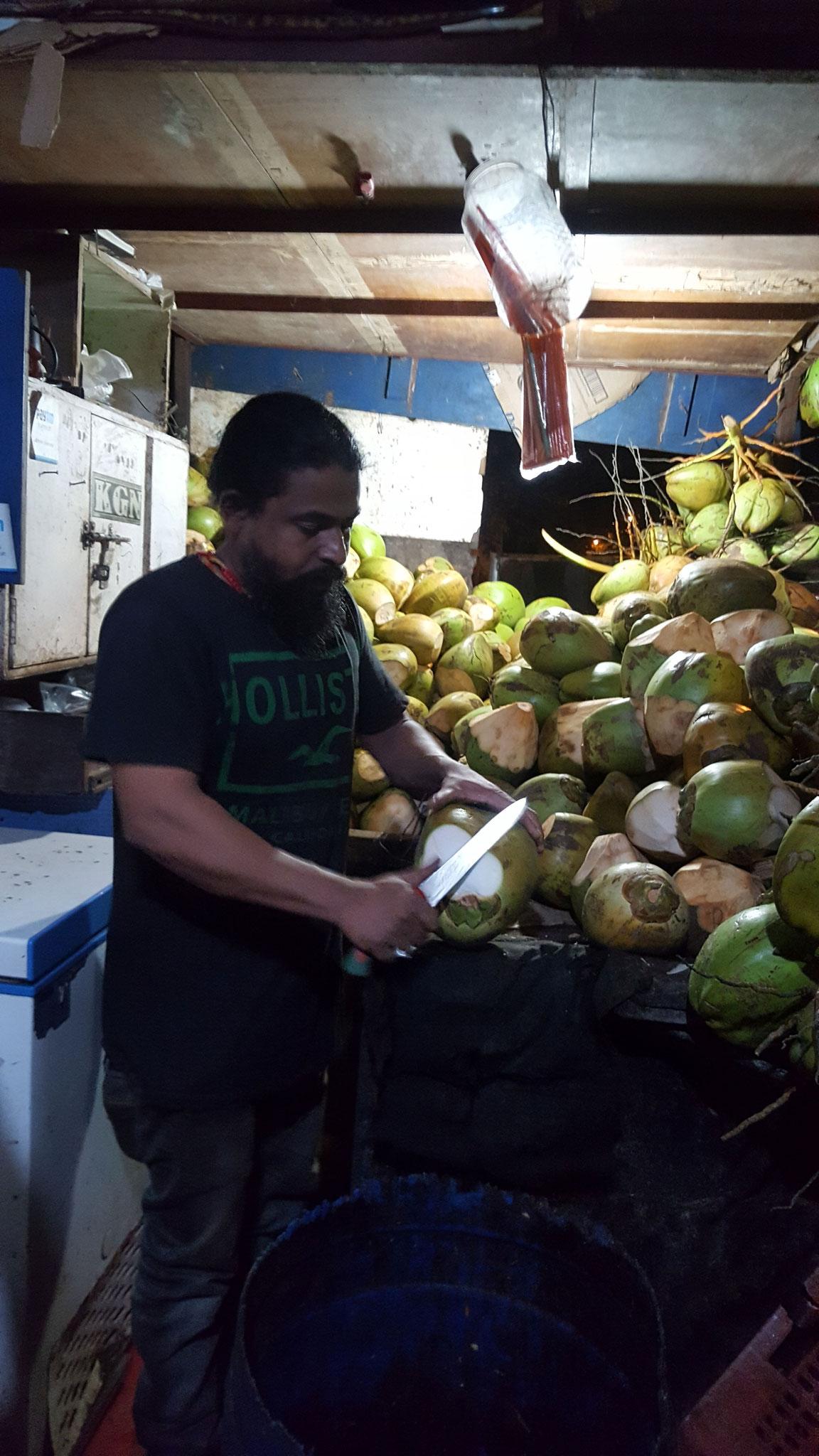 Mein Kokoswallah um die Ecke mit bis zu ½ Liter starken Nüssen