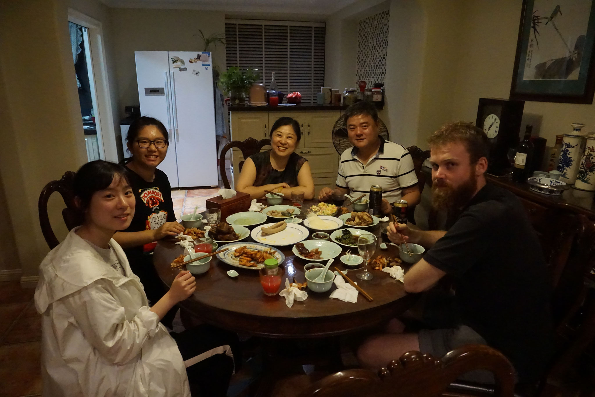 Bei einer Familie zu Gast