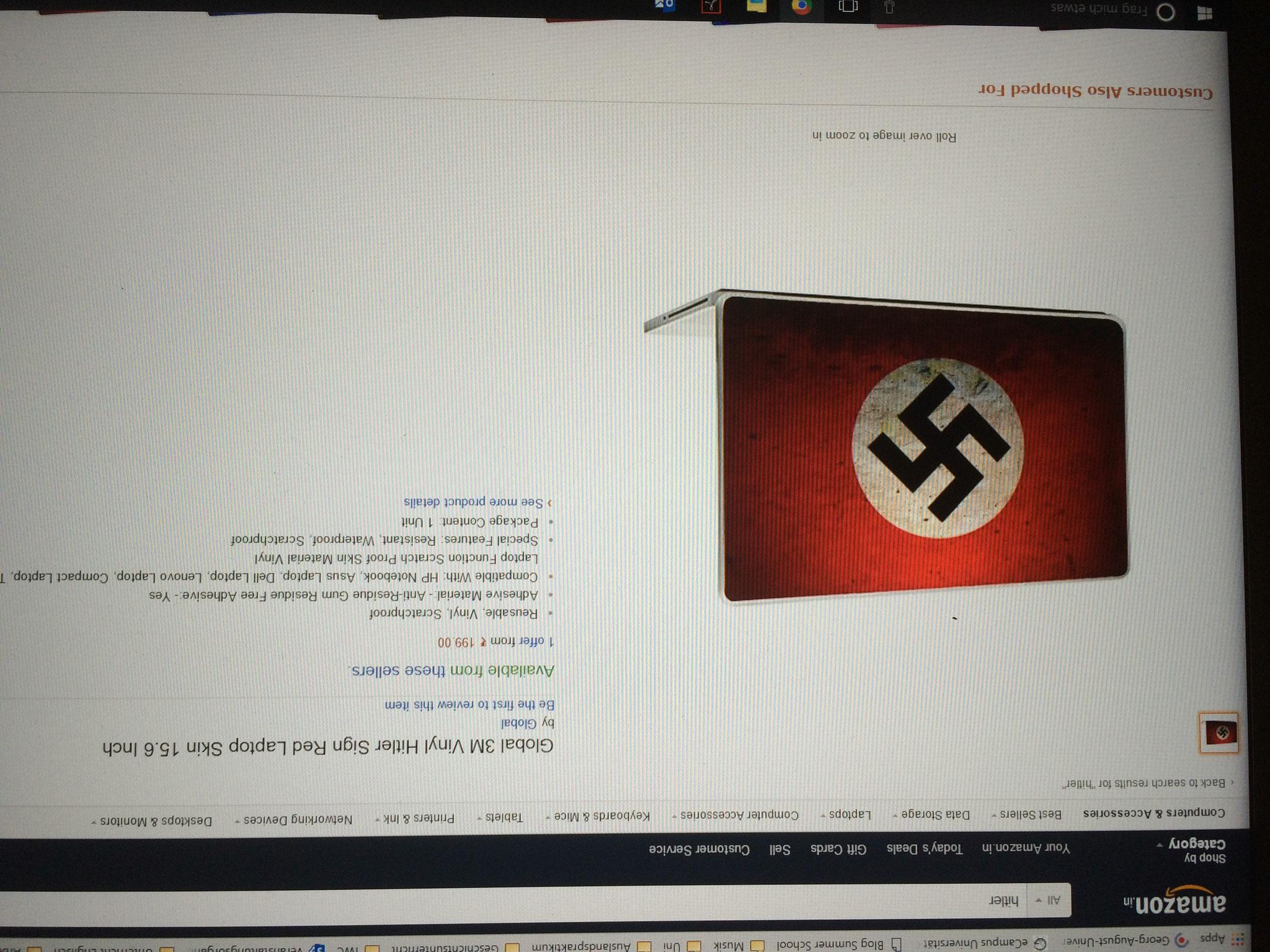 """Amazon India Suchergebnis für Suchbegriff """"Hitler"""""""