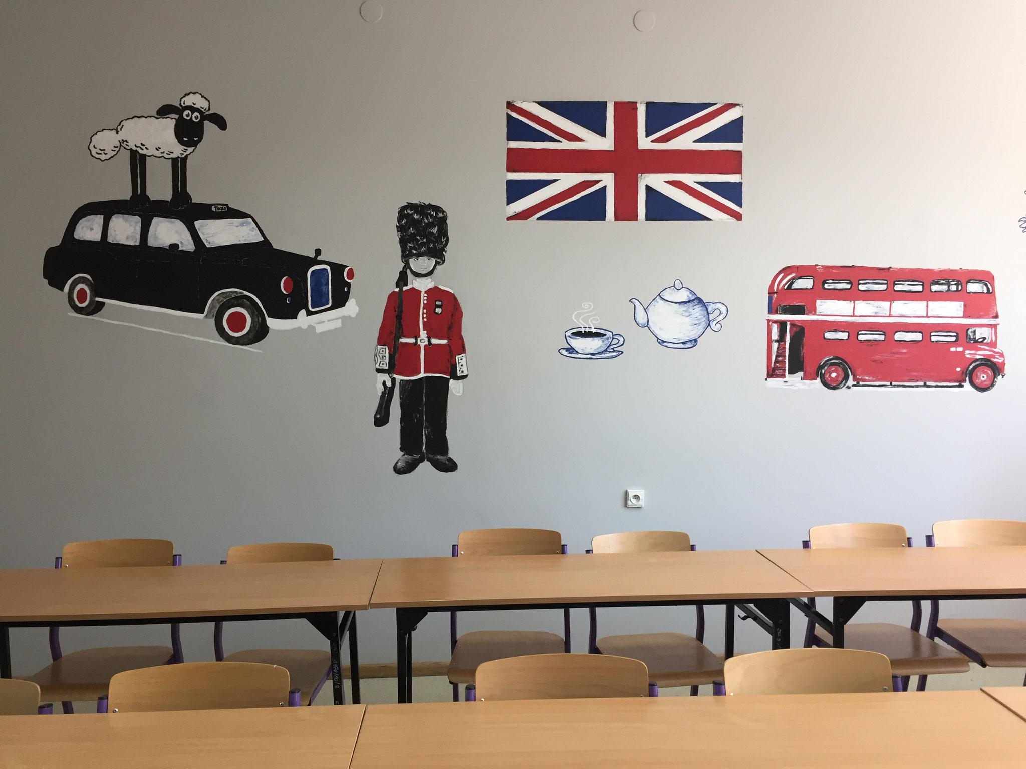 Schüler gestalten den Englischraum II