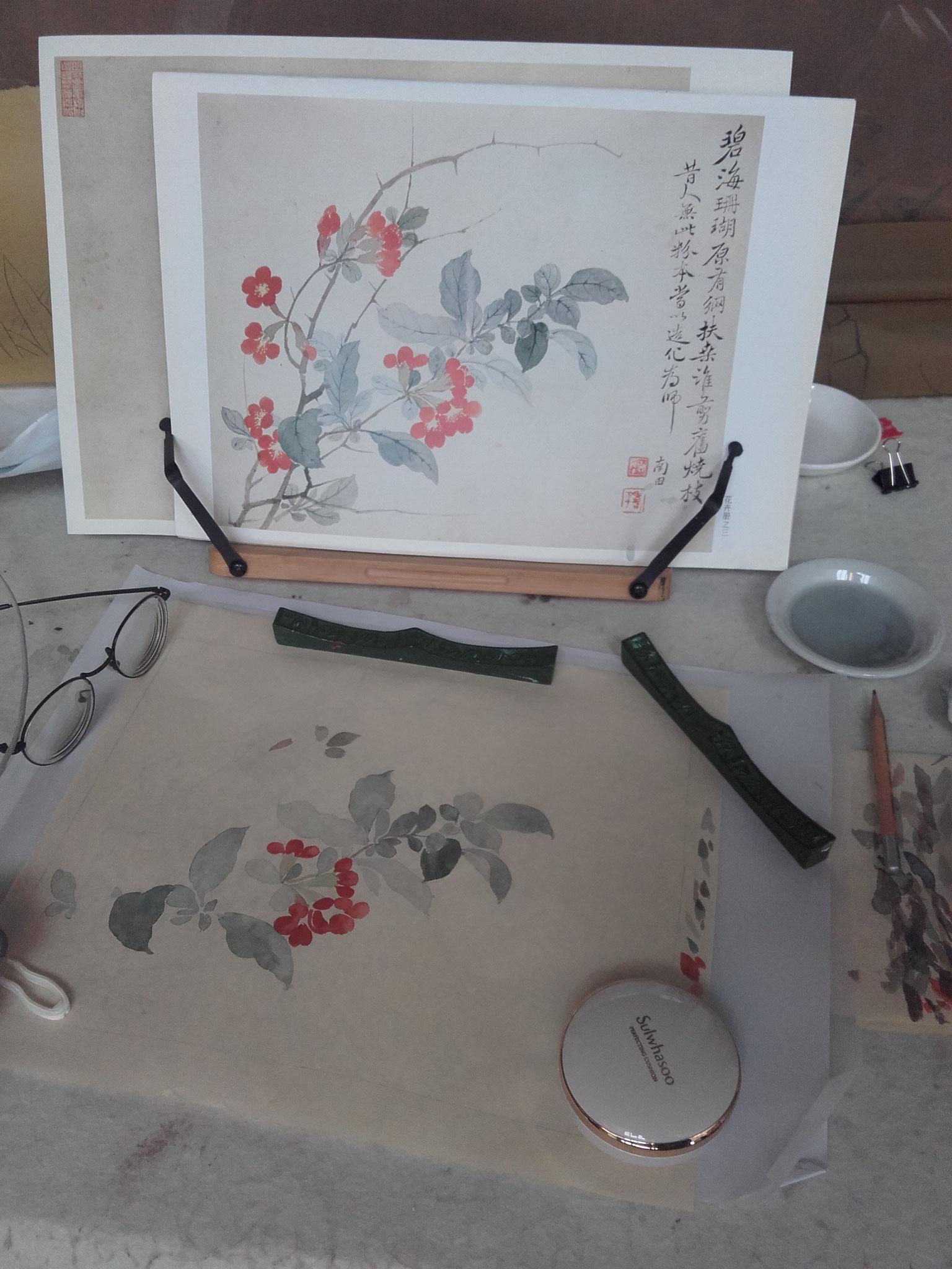 In der Kunstuni, traditionelle Malerei