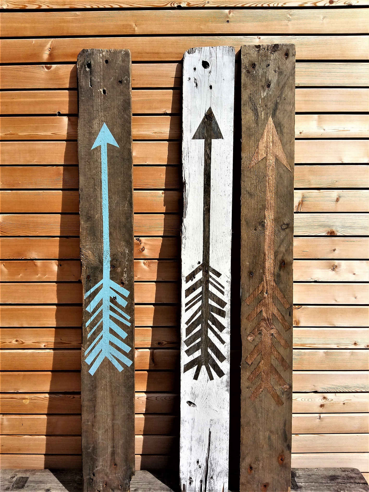 palette - wetterfeste deko für haus und hof, ca 120 x 14 cm,  je € 12,--