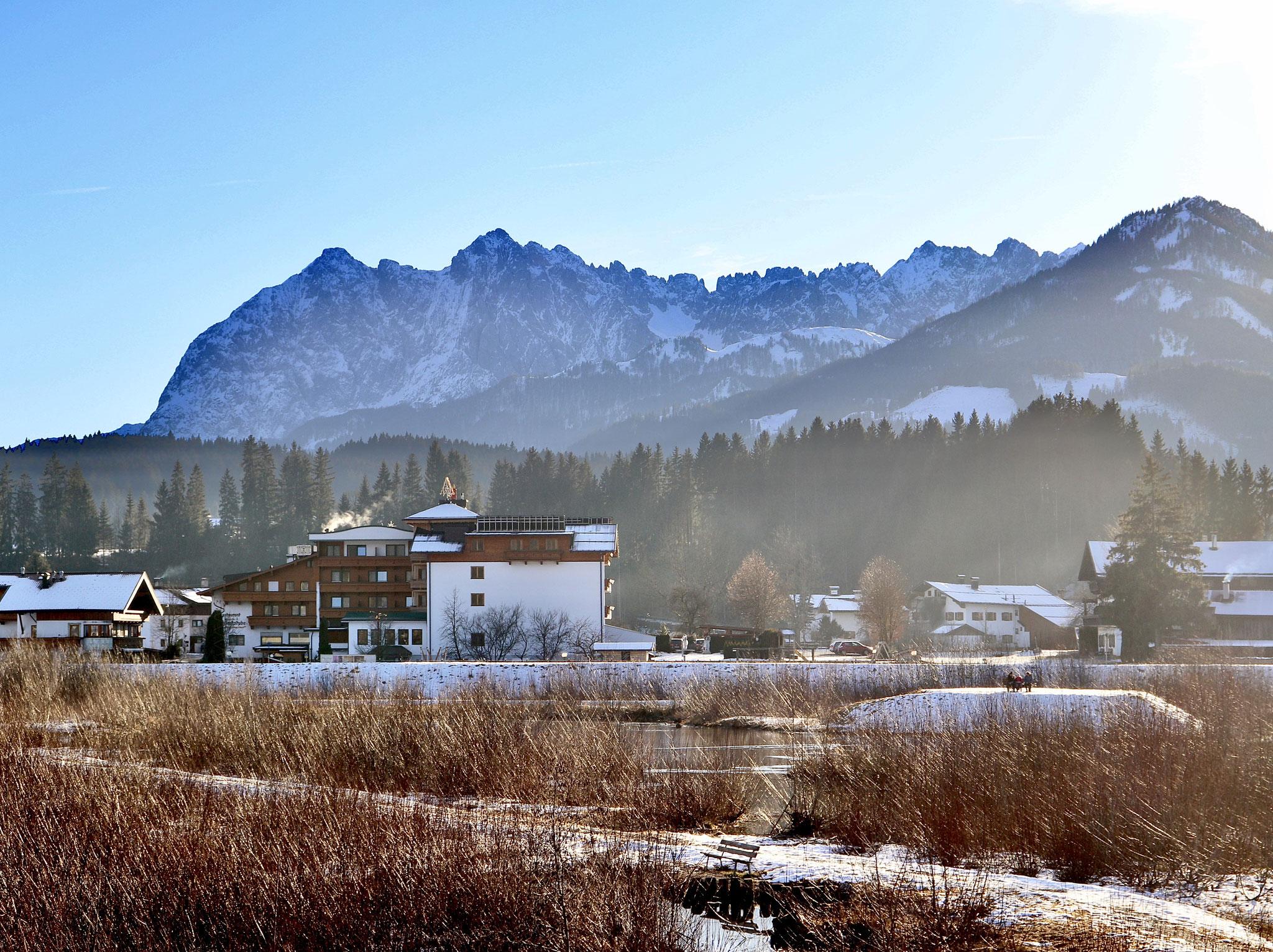 Ansicht Hotel Waidachhof von hinten im Winter