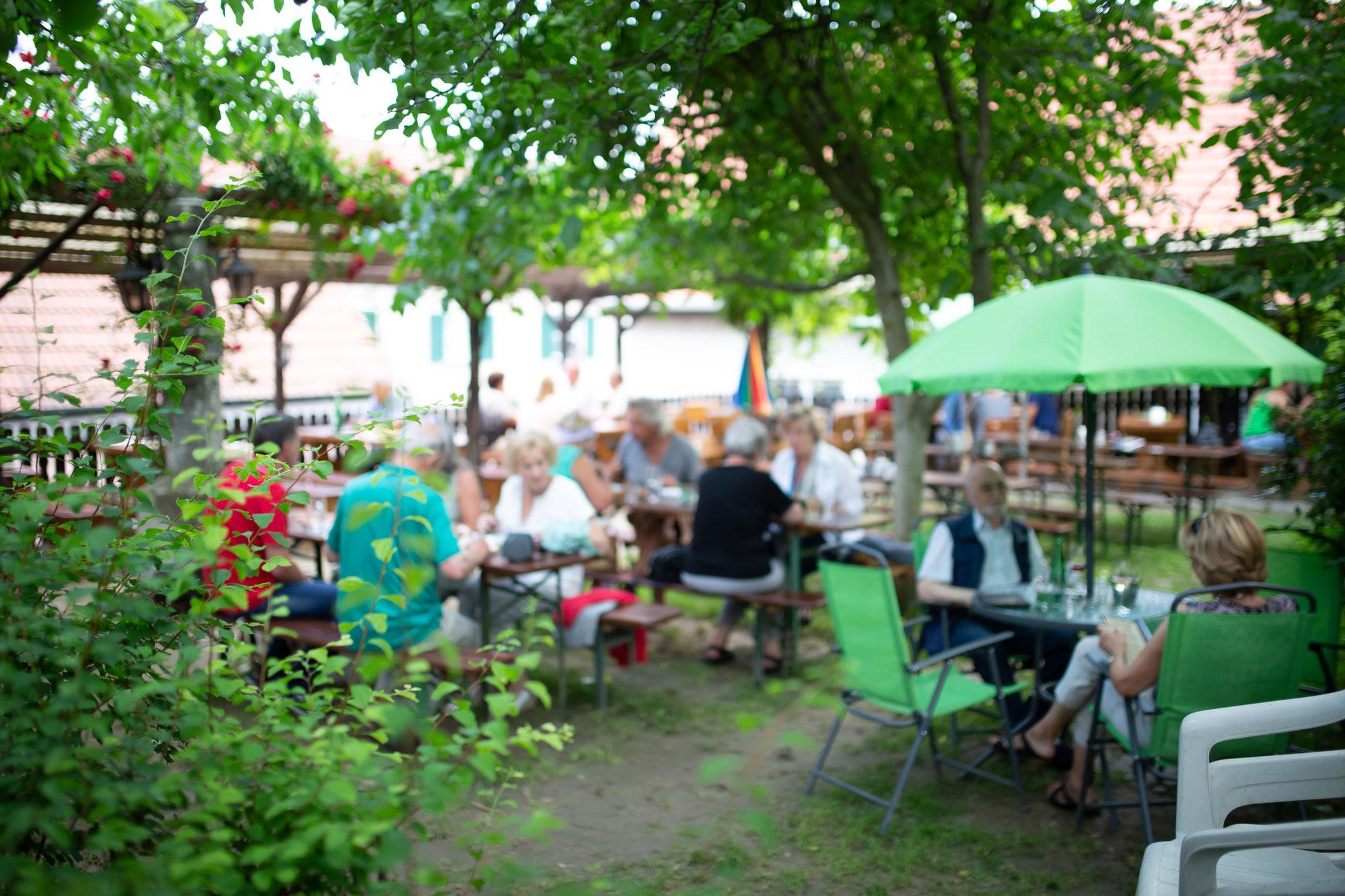 Entspannen Sie im Garten direkt über der Steiner Altstadt!