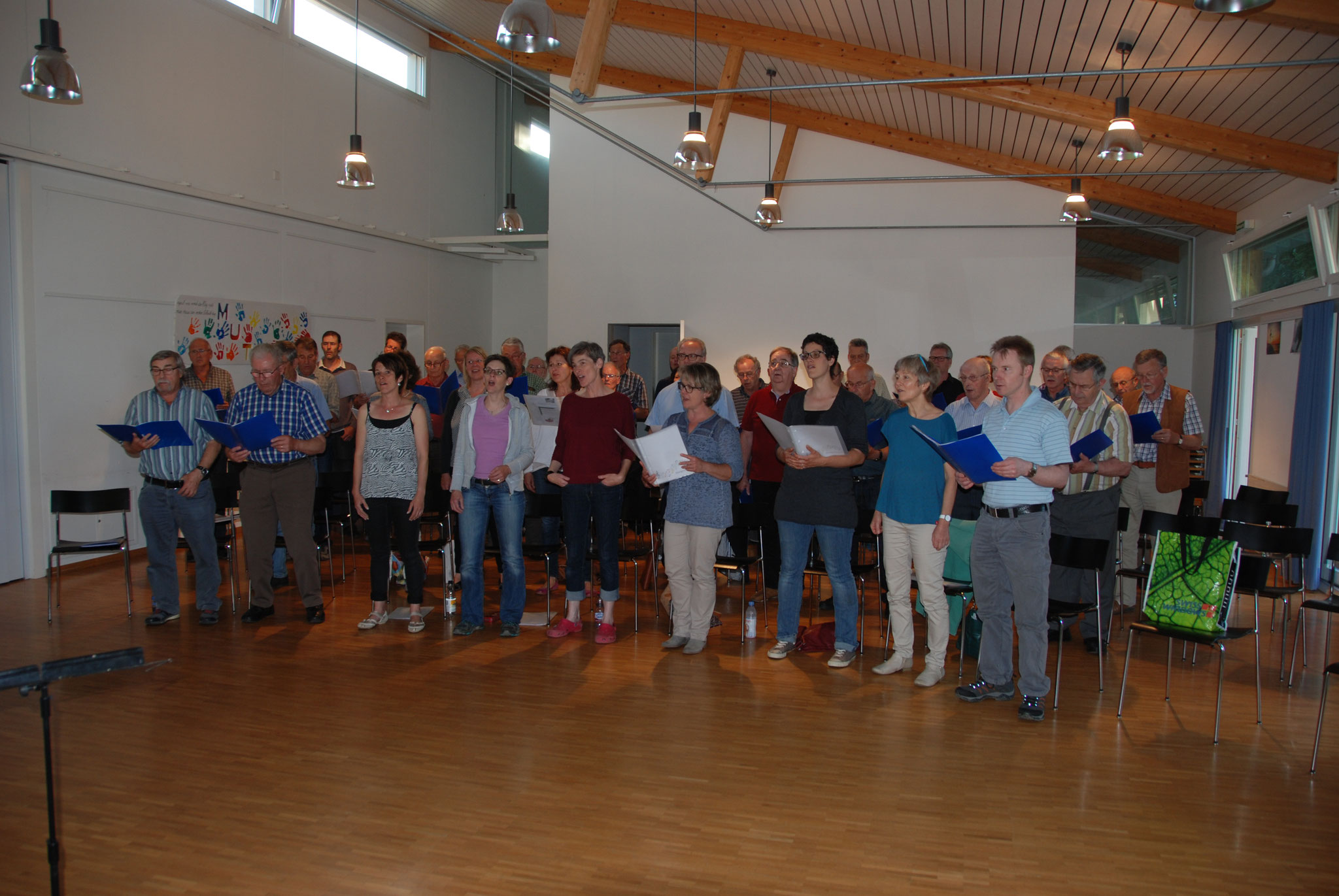Probe mit dem Männerchor Rapperswil für den Kreissängertag 2016