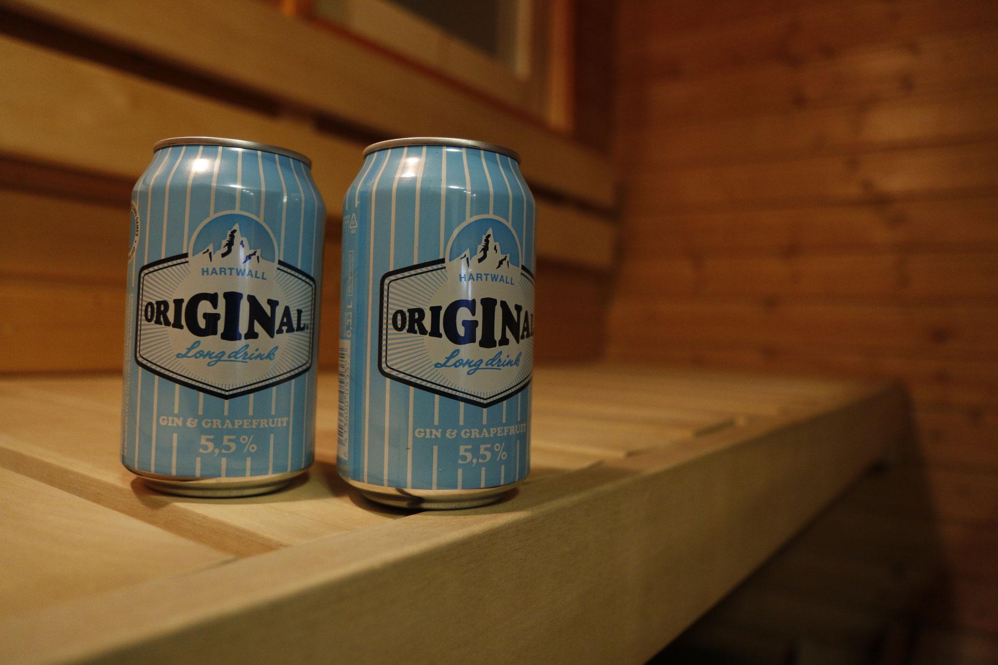 Das wichtigste Inventar: Sauna + den finnischen Nationaldrink