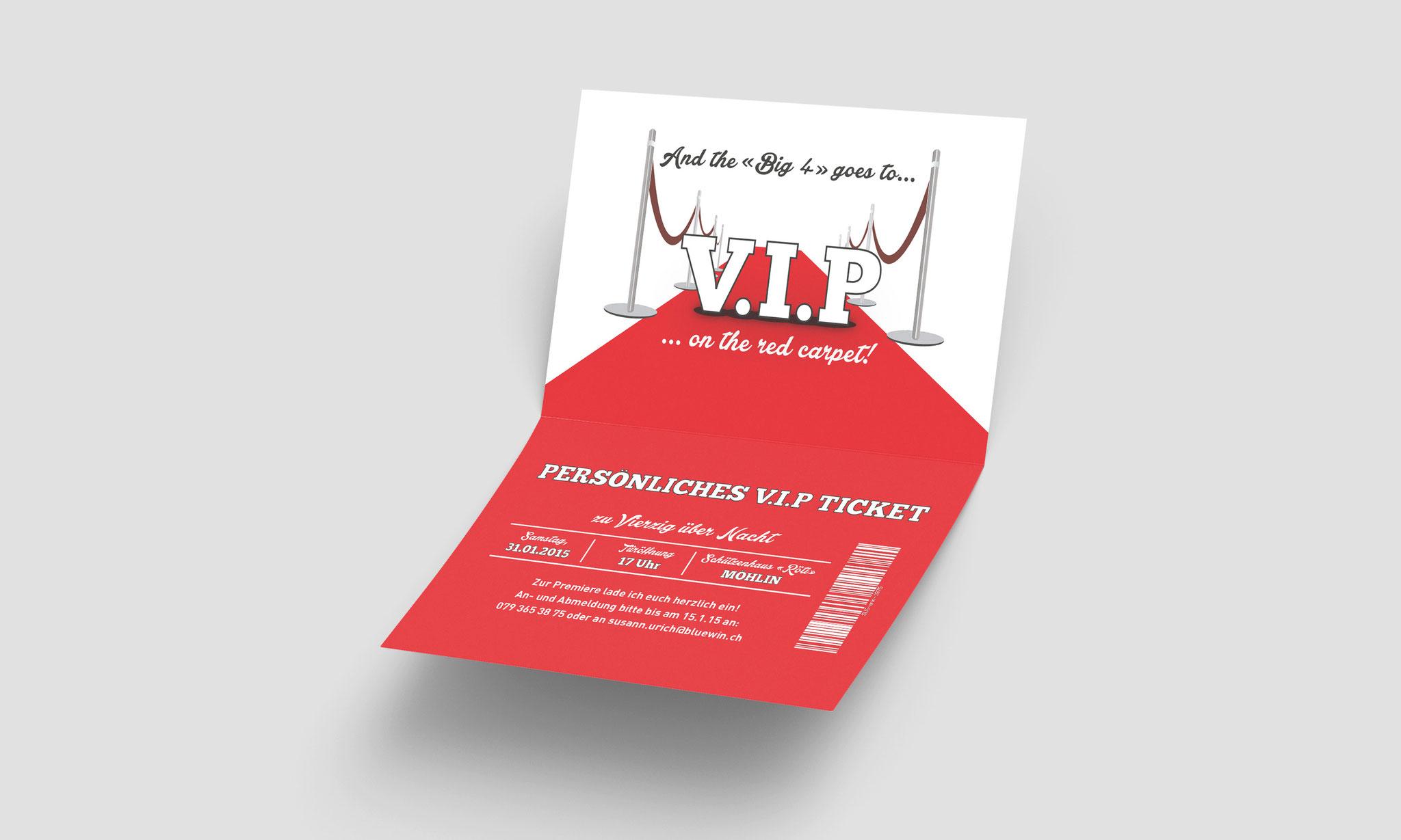 Geburtstagseinladung «VIP»