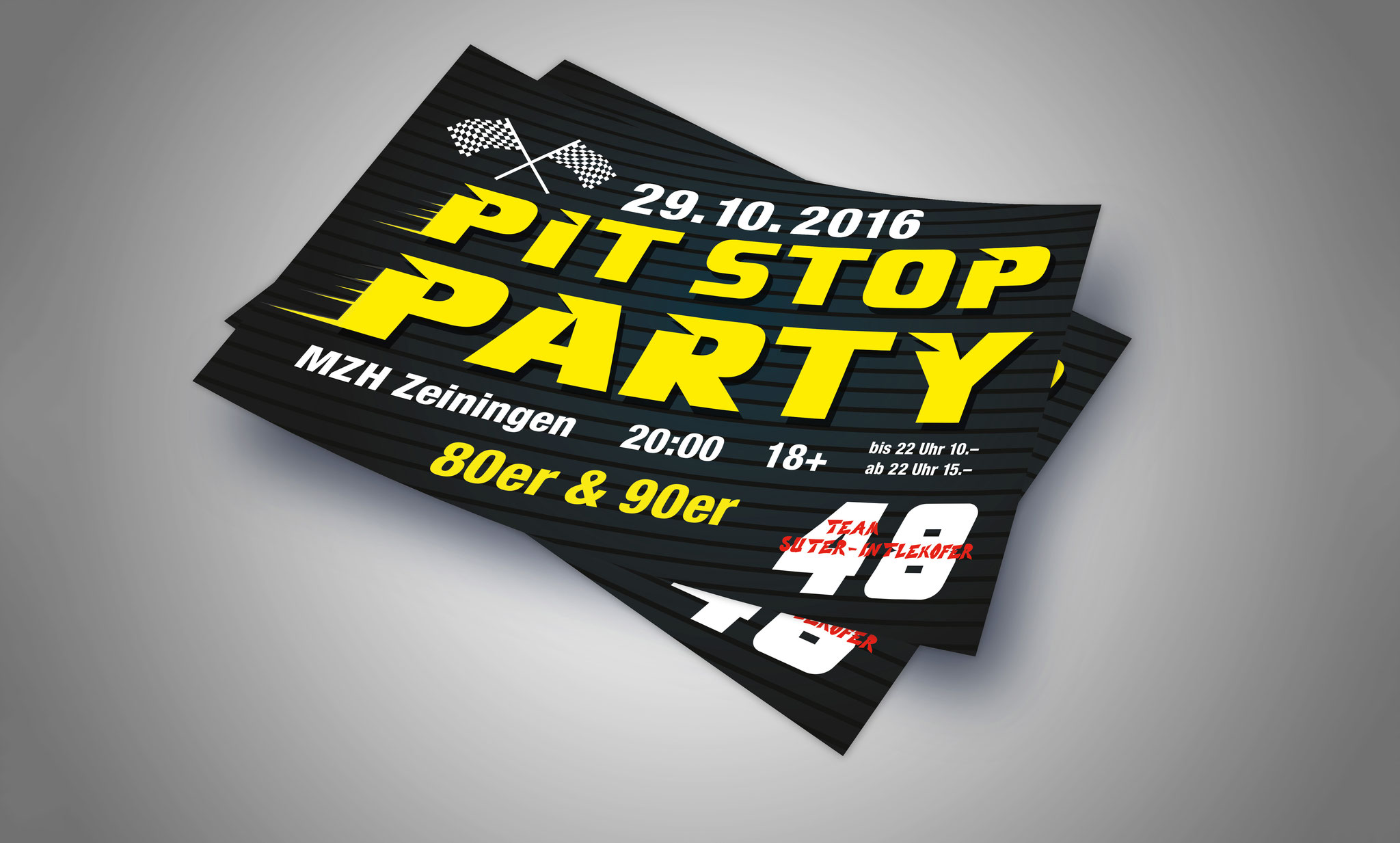 Flyer «Pit Stop Party»