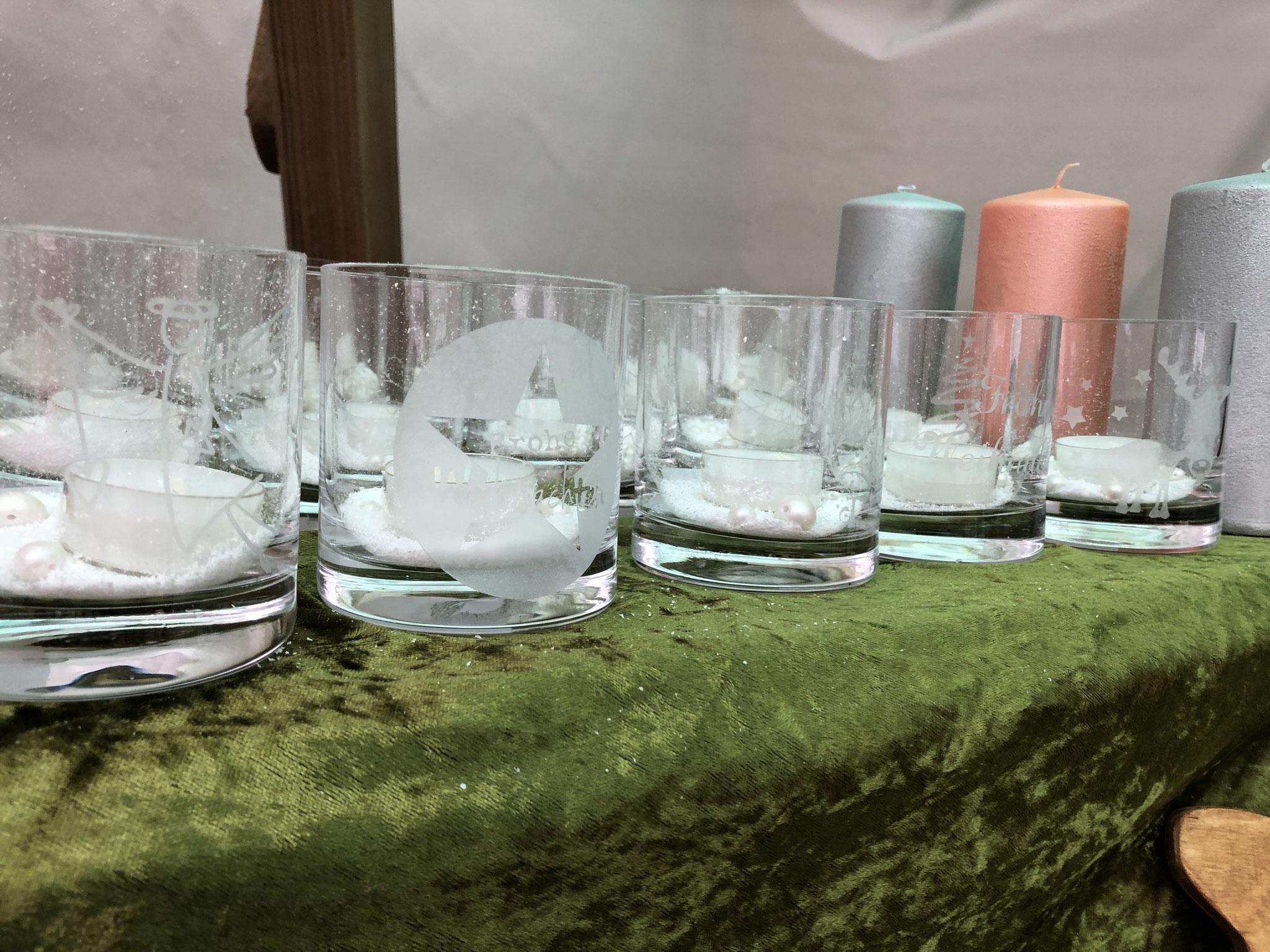 Sandgestrahlte Gläser