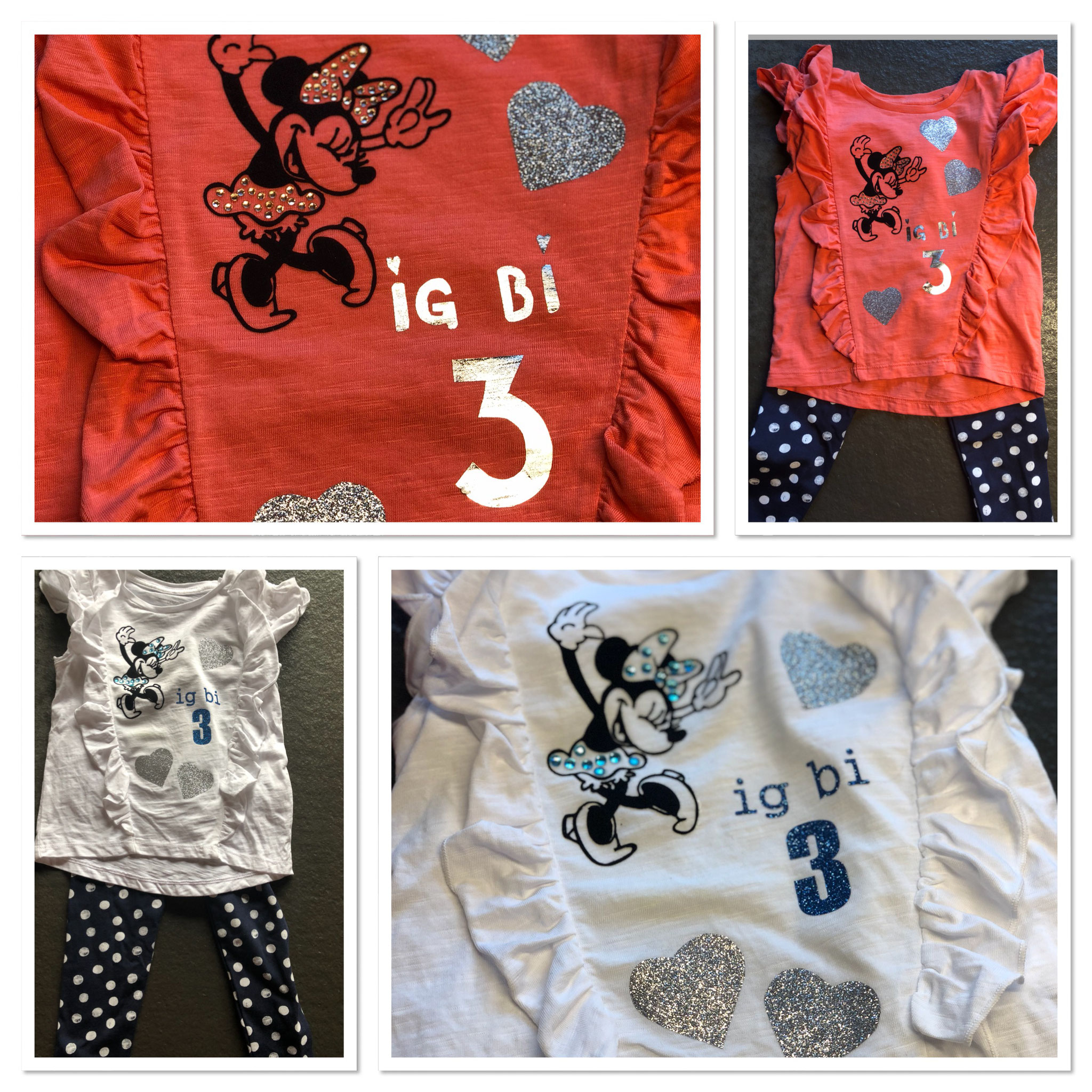 bedrucktes/beklebtes Kinder-Shirt
