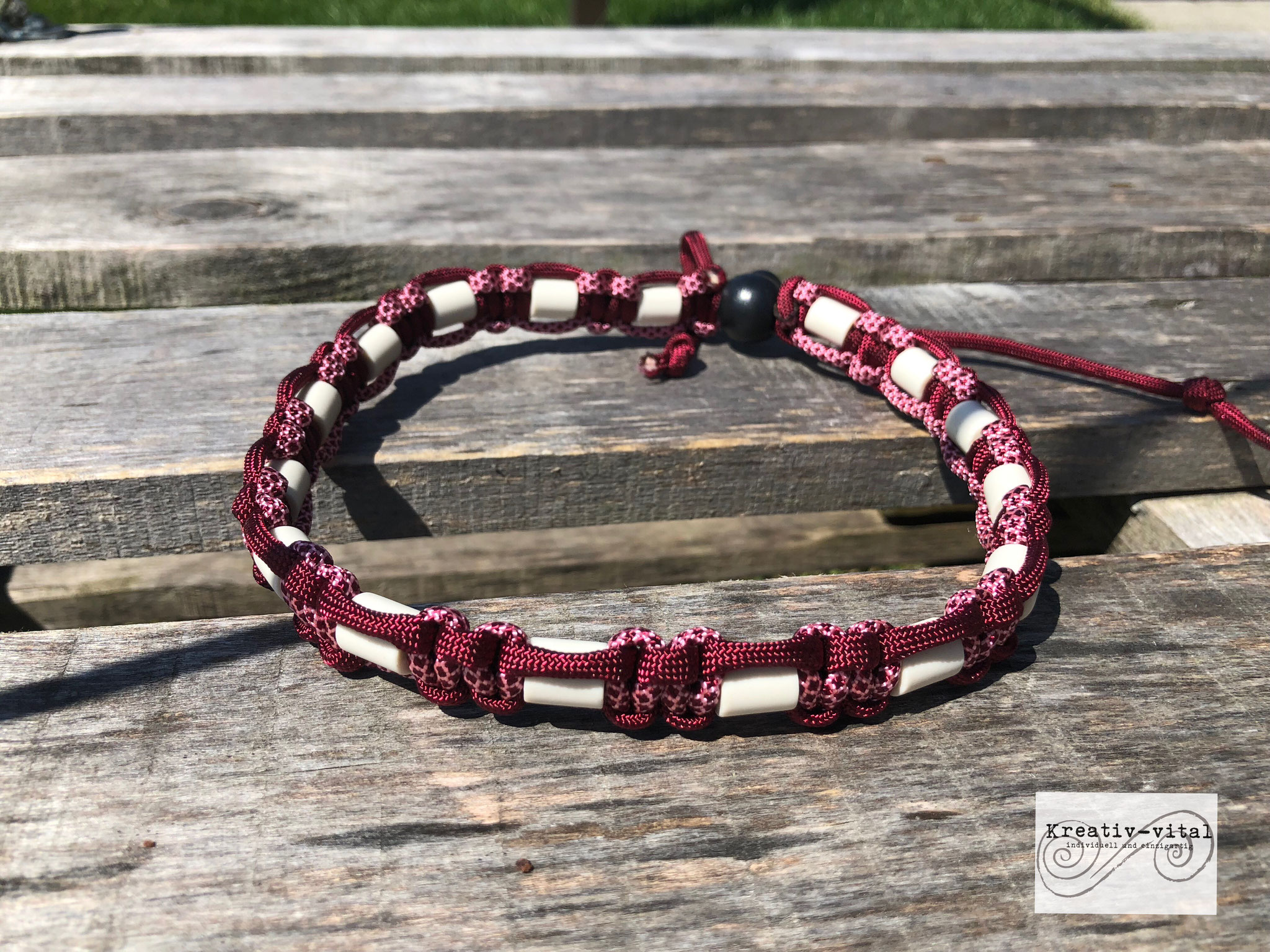 EM Keramik Halsband für Hund/Katze 46-50cm Halsumfang