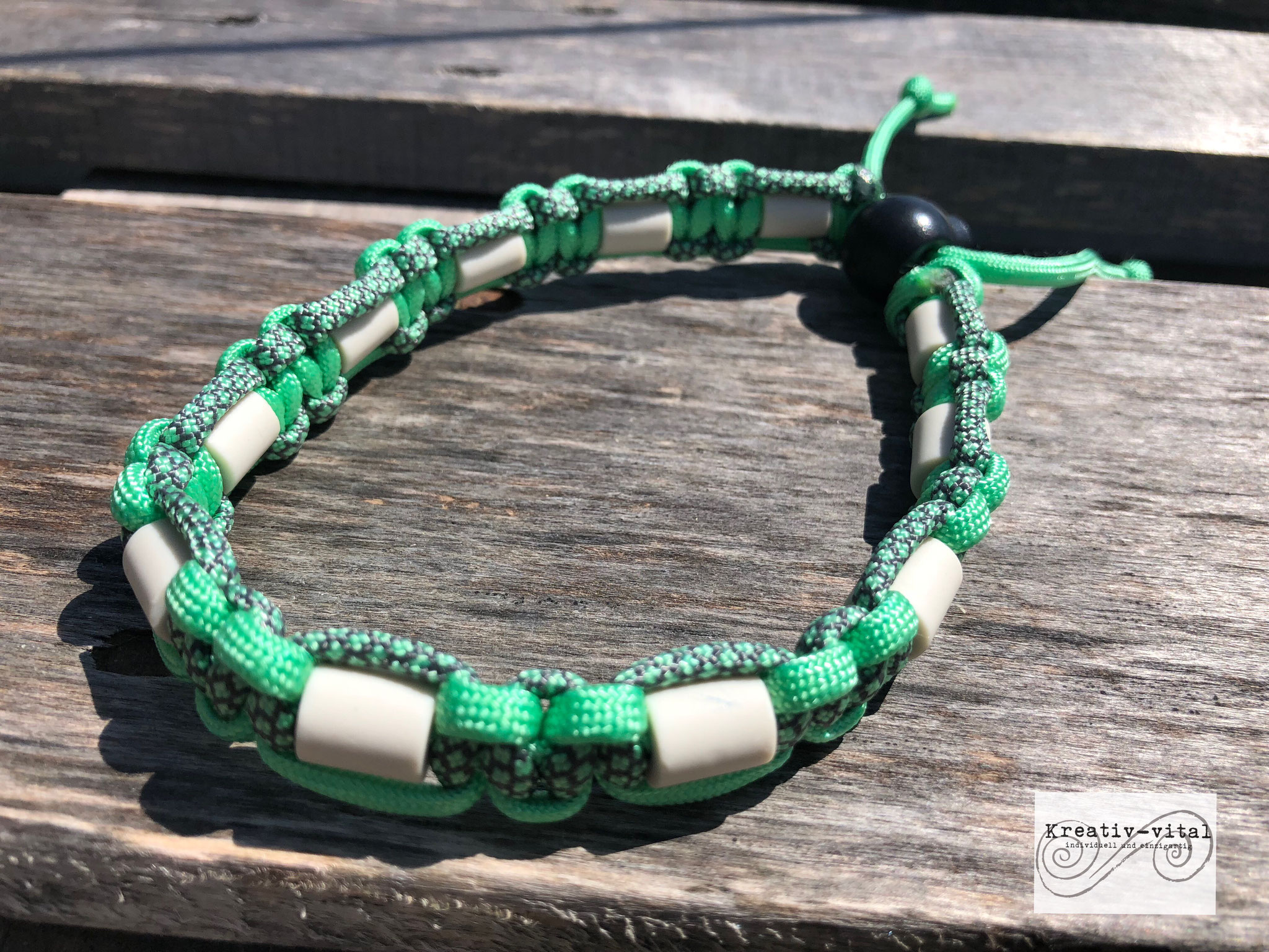EM Keramik Halsband für Hund/Katze 32-35cm Halsumfang Mint/Charcoal grey mint