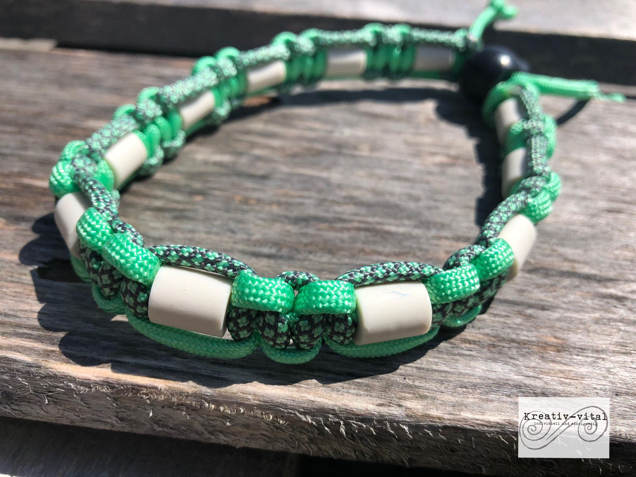 EM Keramik Halsband für Hund/Katze 32-35cm Halsumfang Mint/Charchoal grey mint