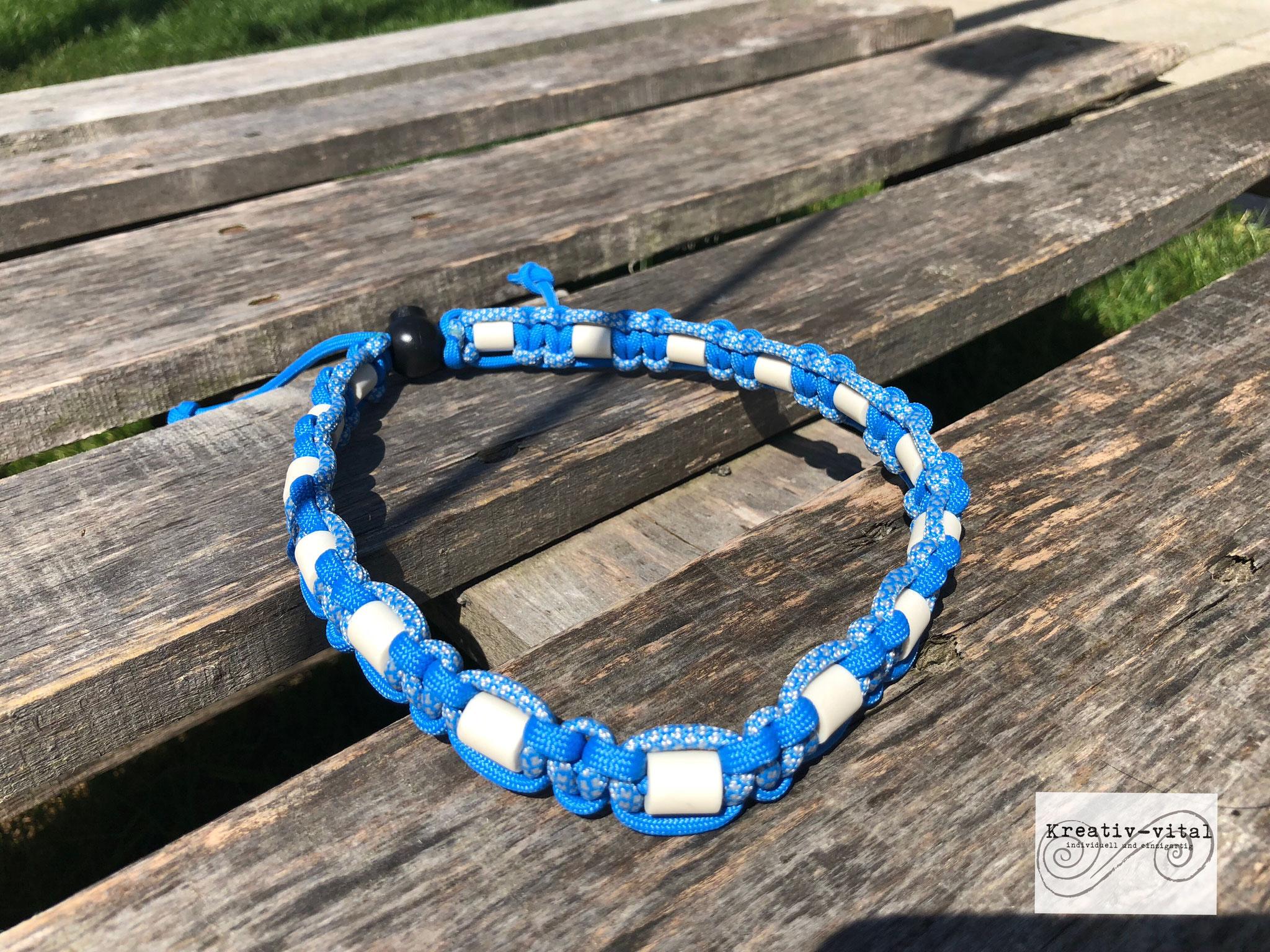 EM Keramik Halsband für Hund/Katze 46-50cm Halsumfang blue/colonial blue