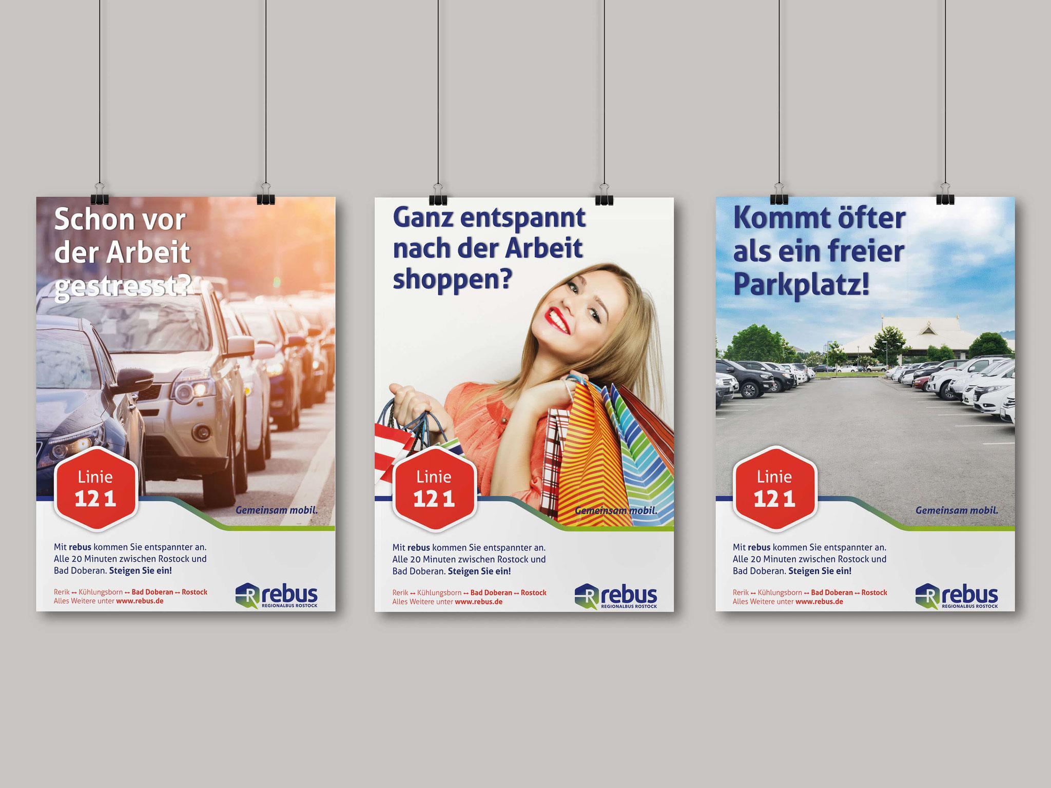 rebus - Marketingkampagne zur Stärkung der Linie 121