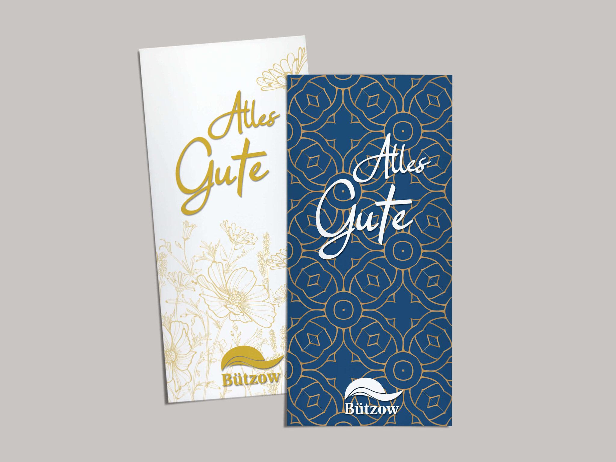 Stadt Bützow - Glückwunschkarten mit Relieflack
