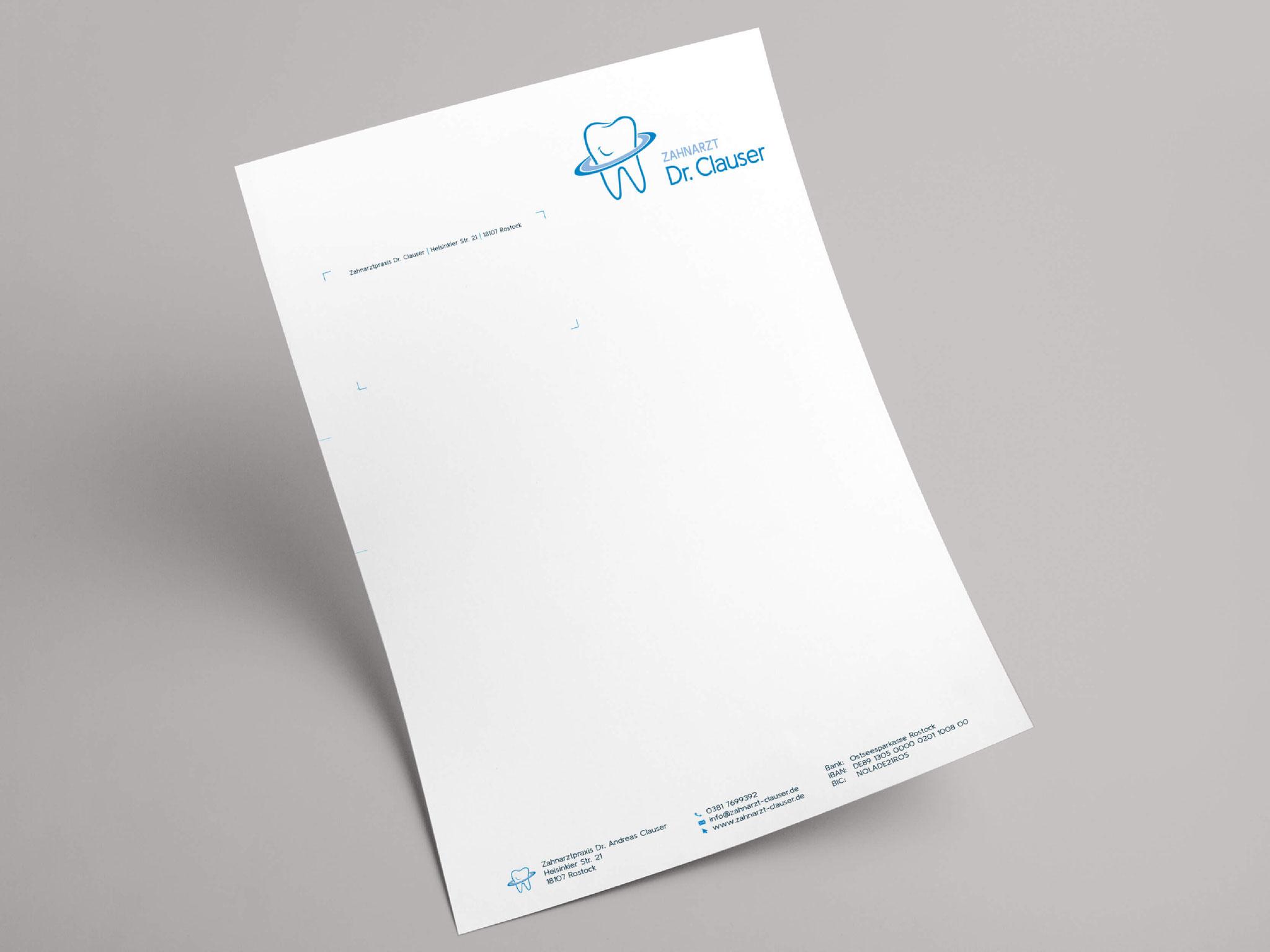 Zahnarzt Dr. Clauser - Briefpapier