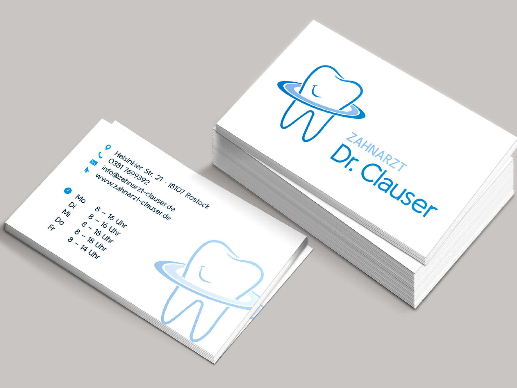 Zahnarzt Dr. Clauser - Visitenkarten