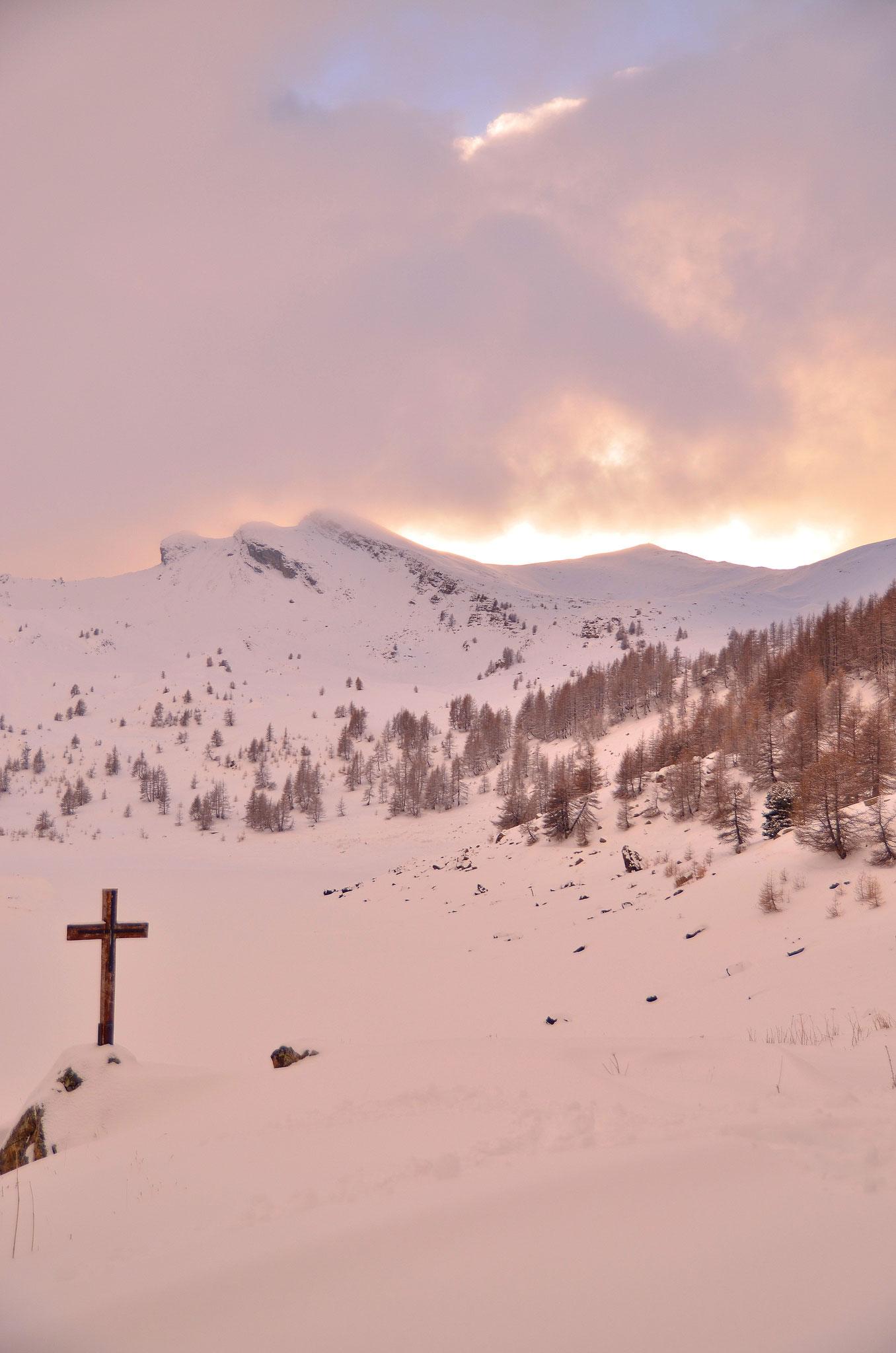 Décembre 2013 ~ Lac d'Allos sous la neige
