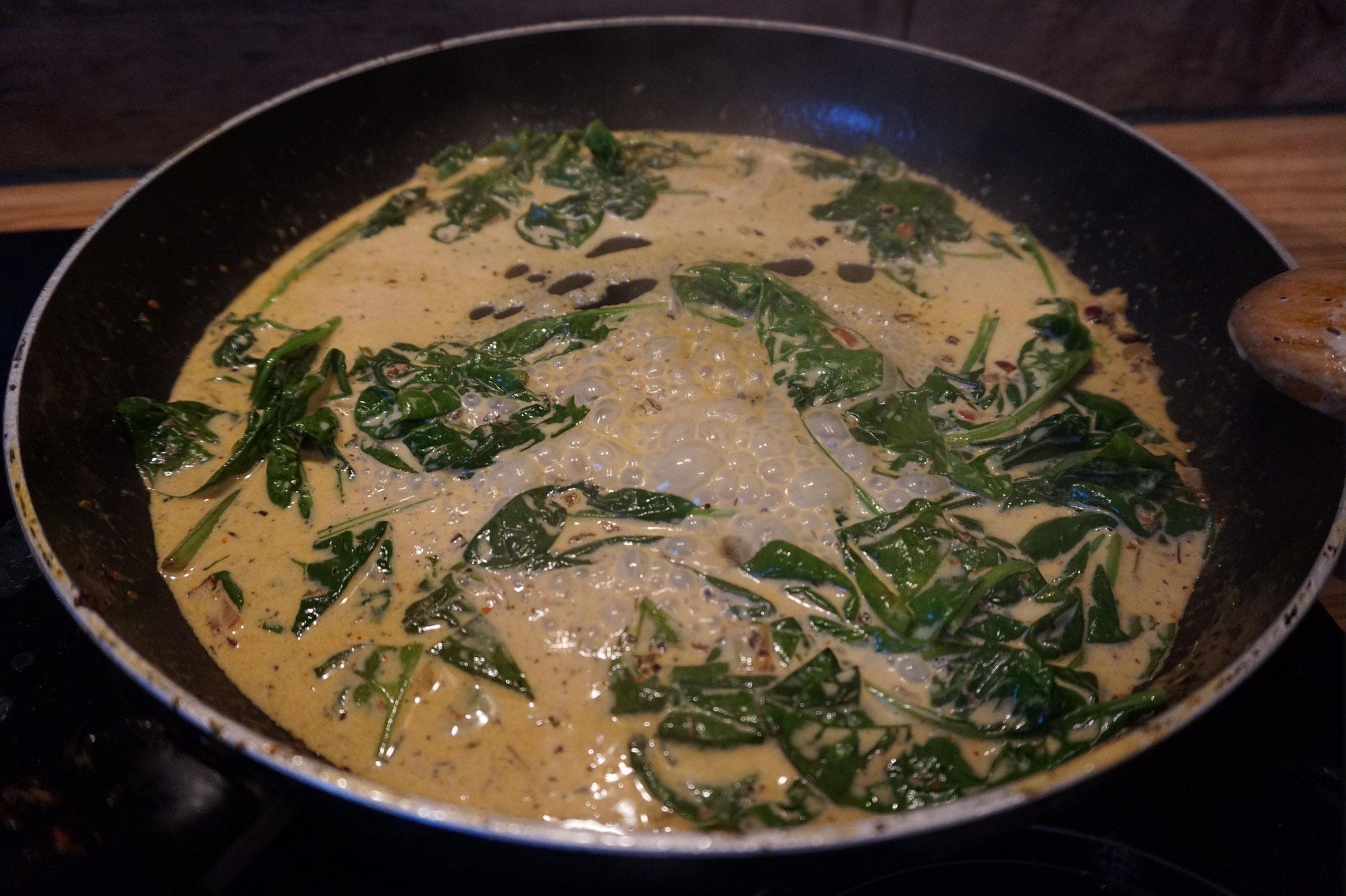 Butter Pasta mit Zitrone - Thymian - Spinat | Fertig in 20 Min