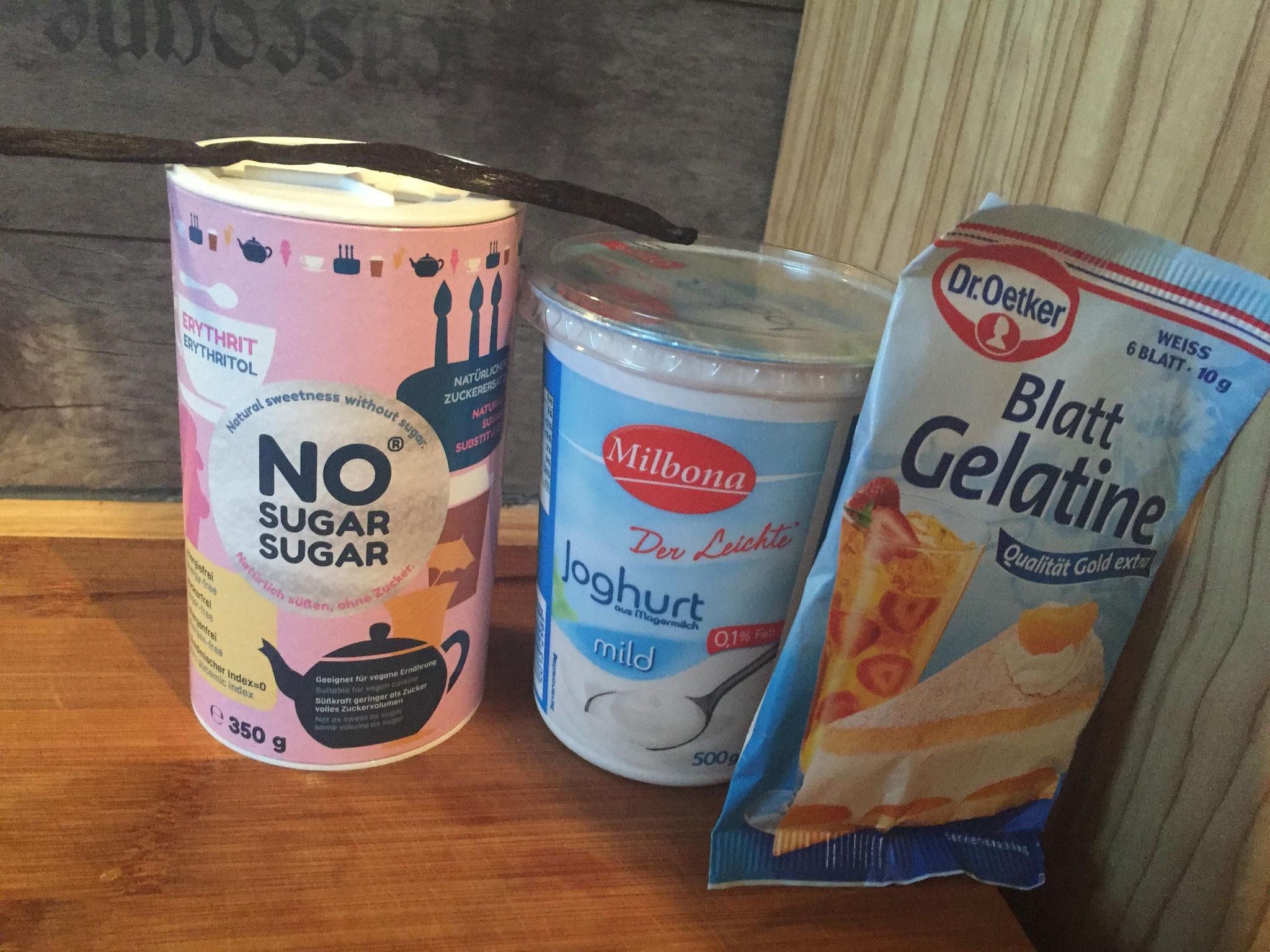 Rezept Frozen Jogurt selbst gemacht  mit 5 Zutaten| mit Erdbeeren und Vanille