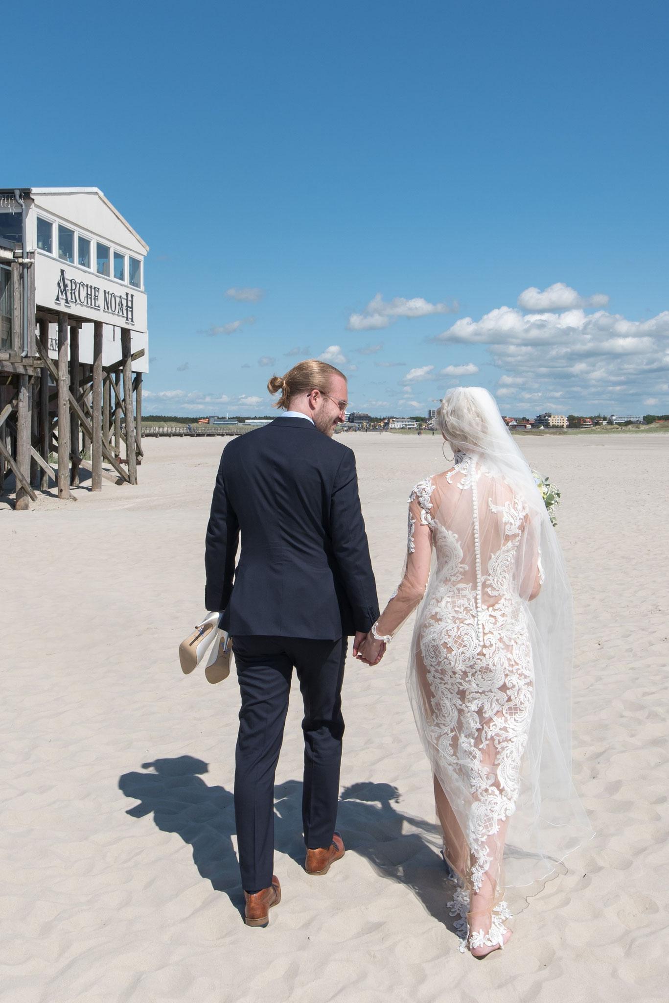 Brautpaarshooting am Strand