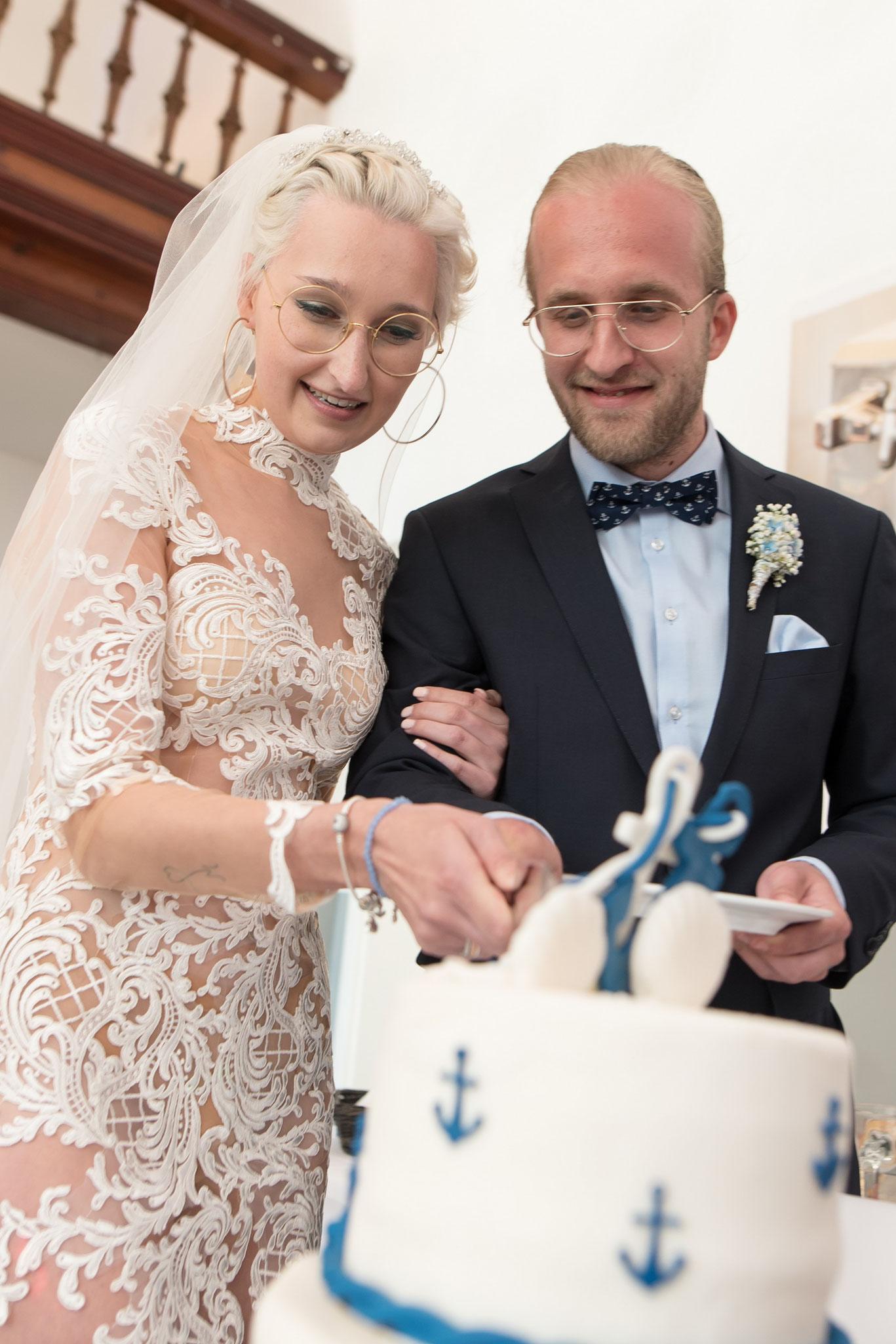 Hochzeitstorte maritim