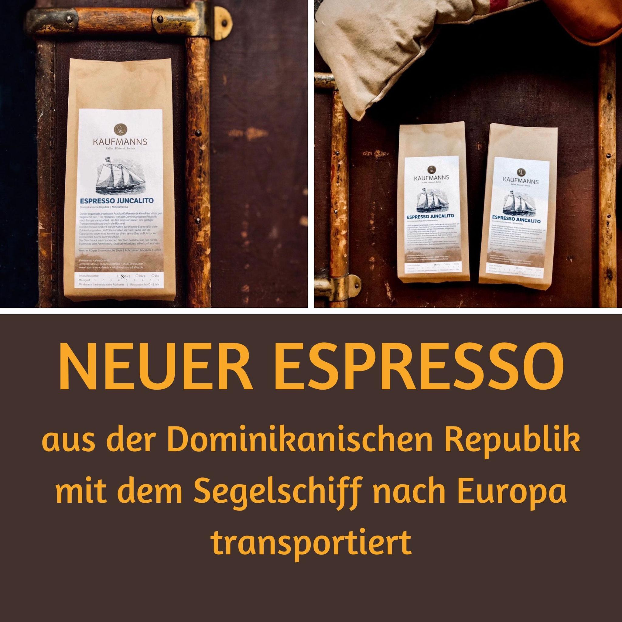 KAUFMANNS Espresso Juncalito aus der Dominikanischen Republik