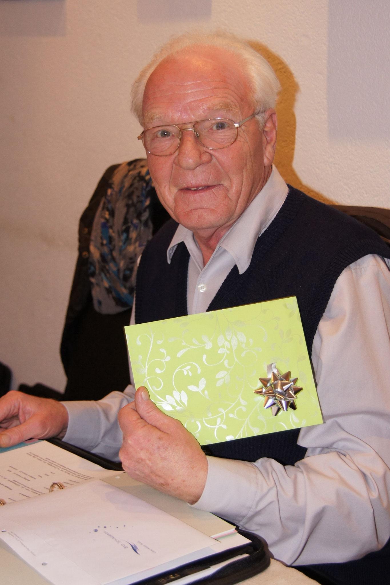 Heinz Byland gehört zu den fleissigsten Probenbesuchern