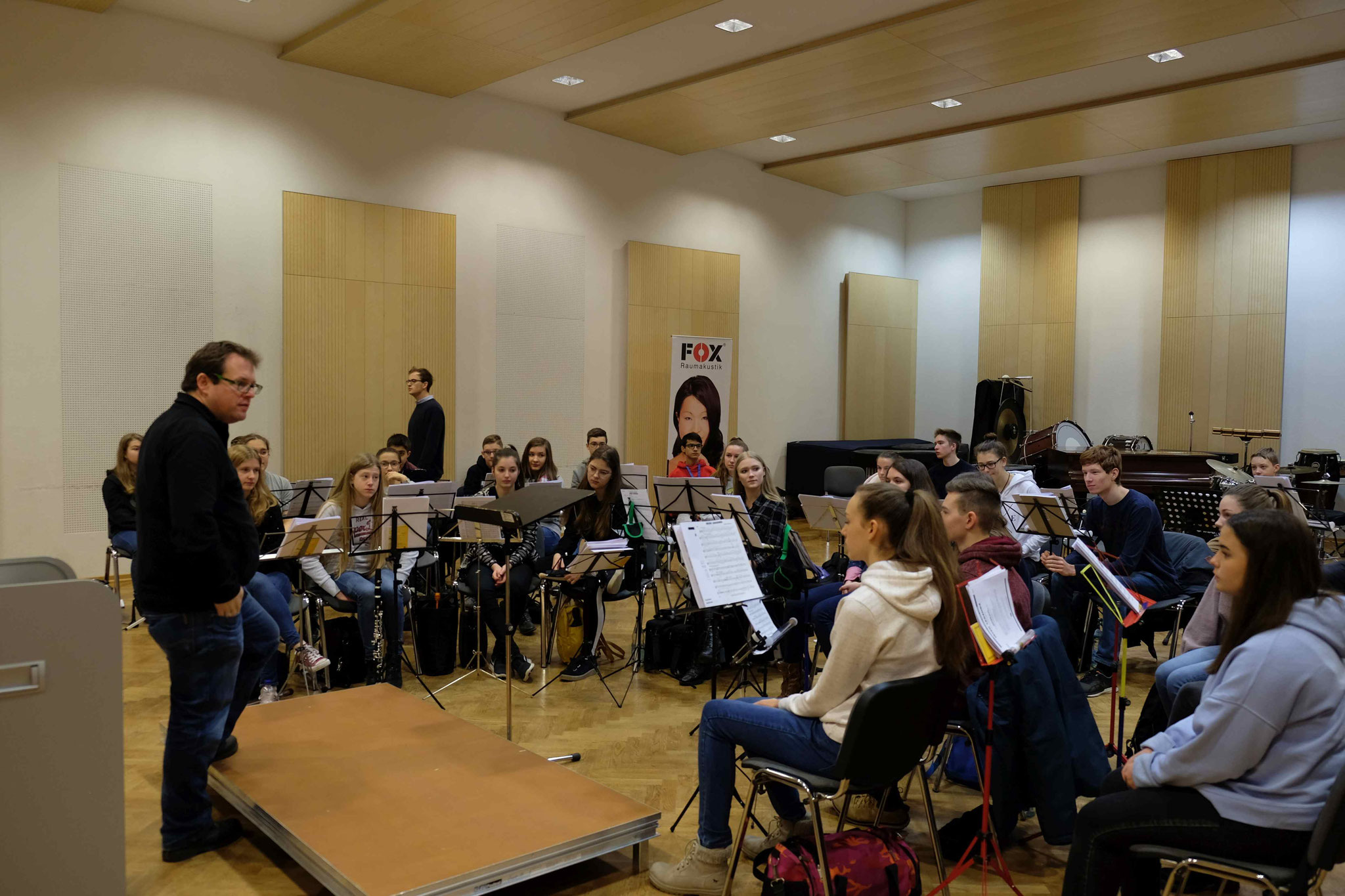 Im Orchestersaal spielt immer die Musik