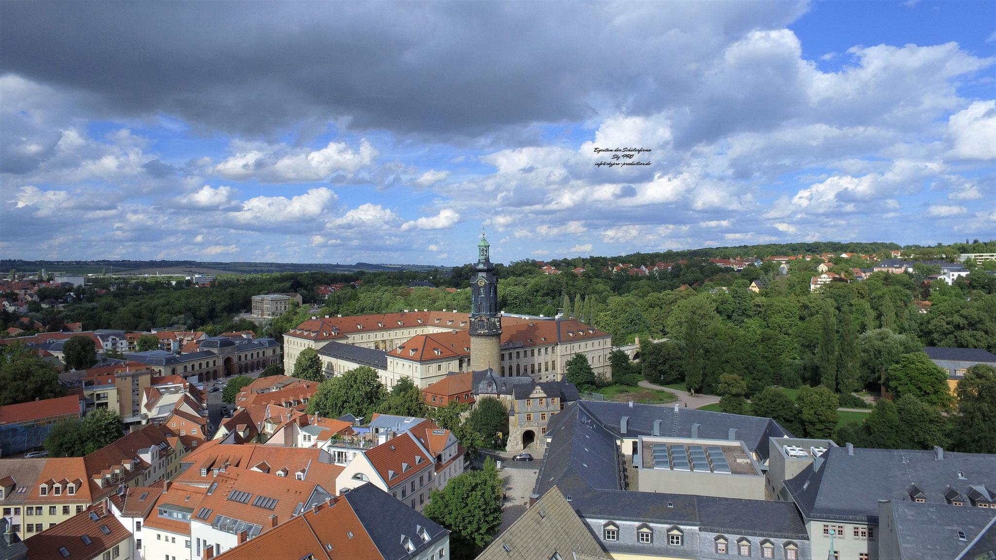 Blick in Richtung Stadtschloss Weimar