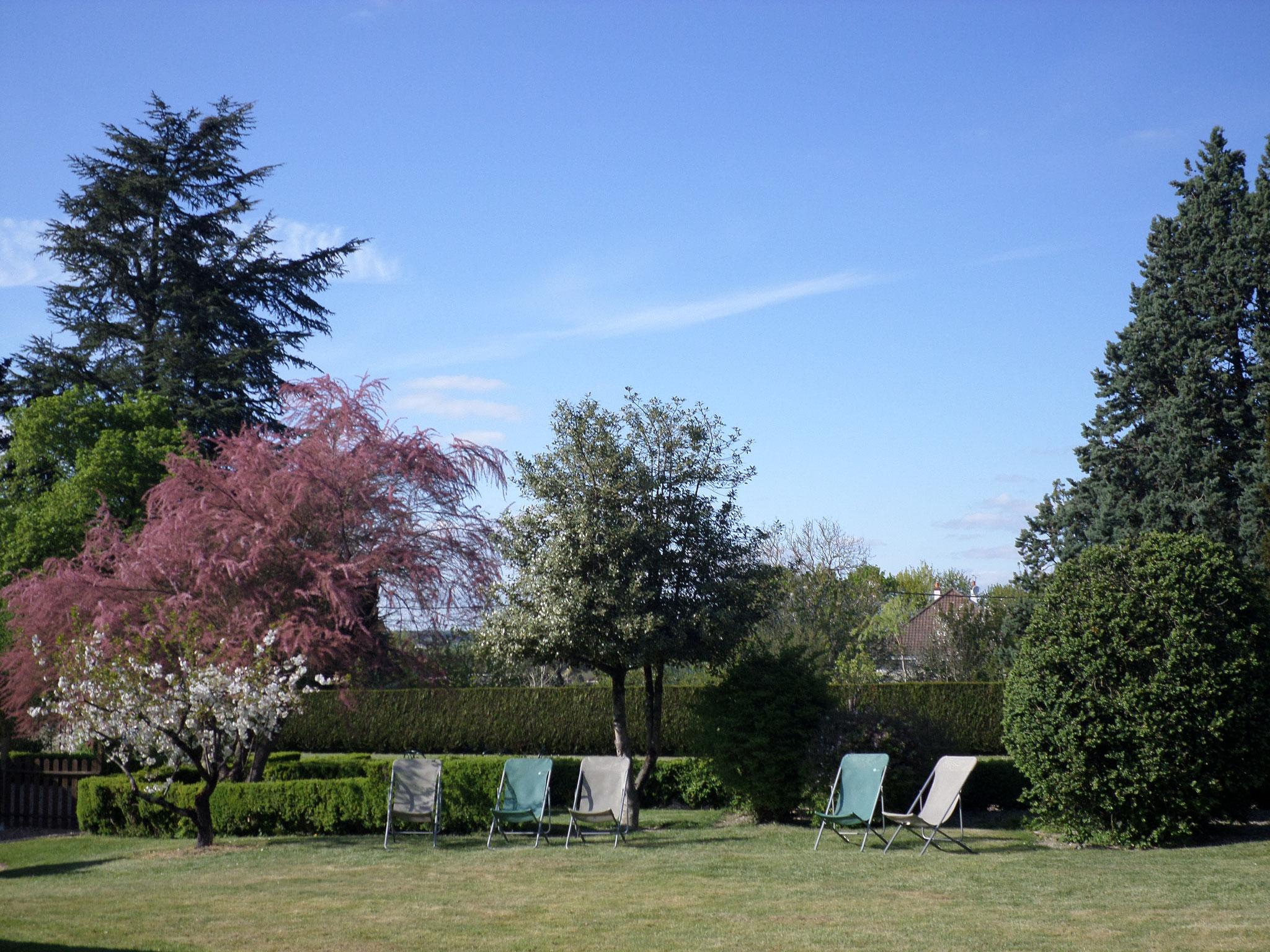 Jardin avec Transats