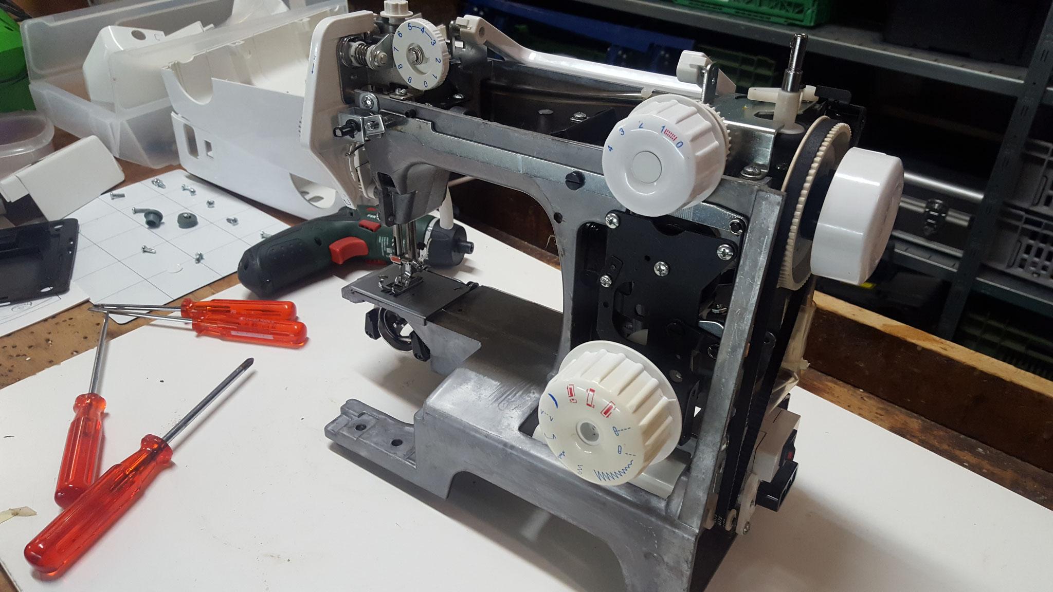 Nähmaschine reparieren