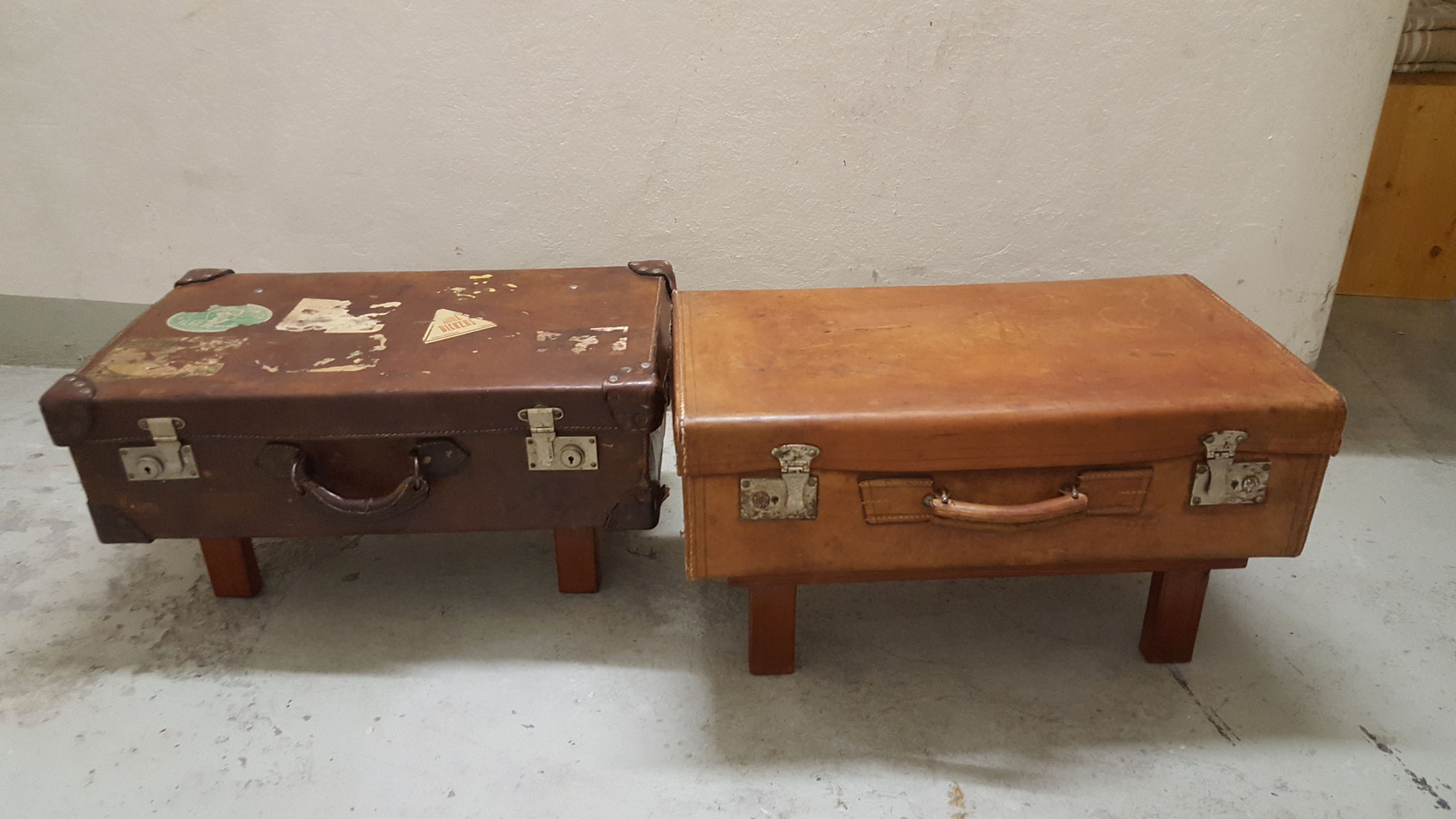 Die zwei Koffer passen gut zusammen.