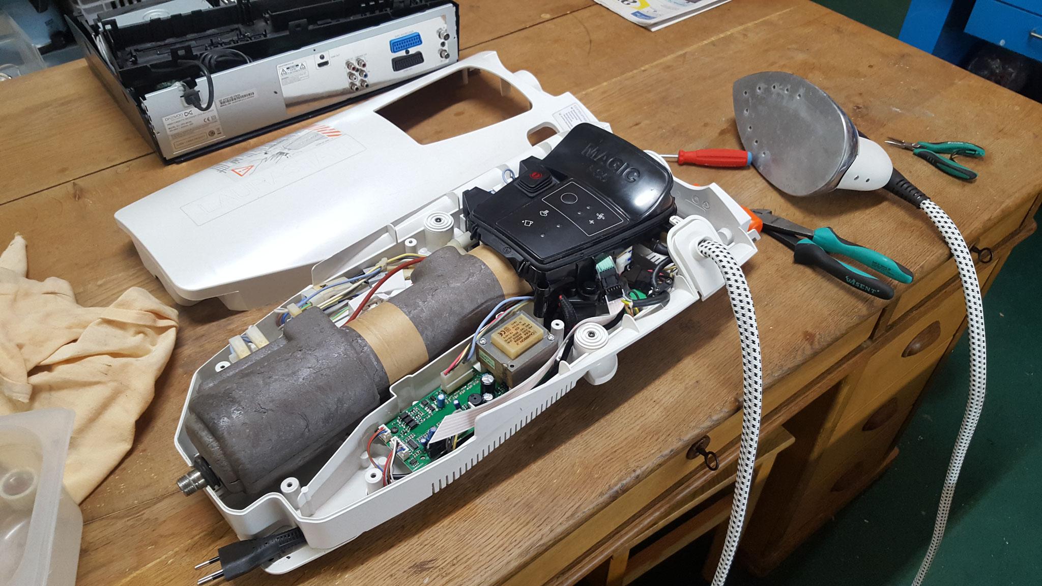 Dampfstation reparieren