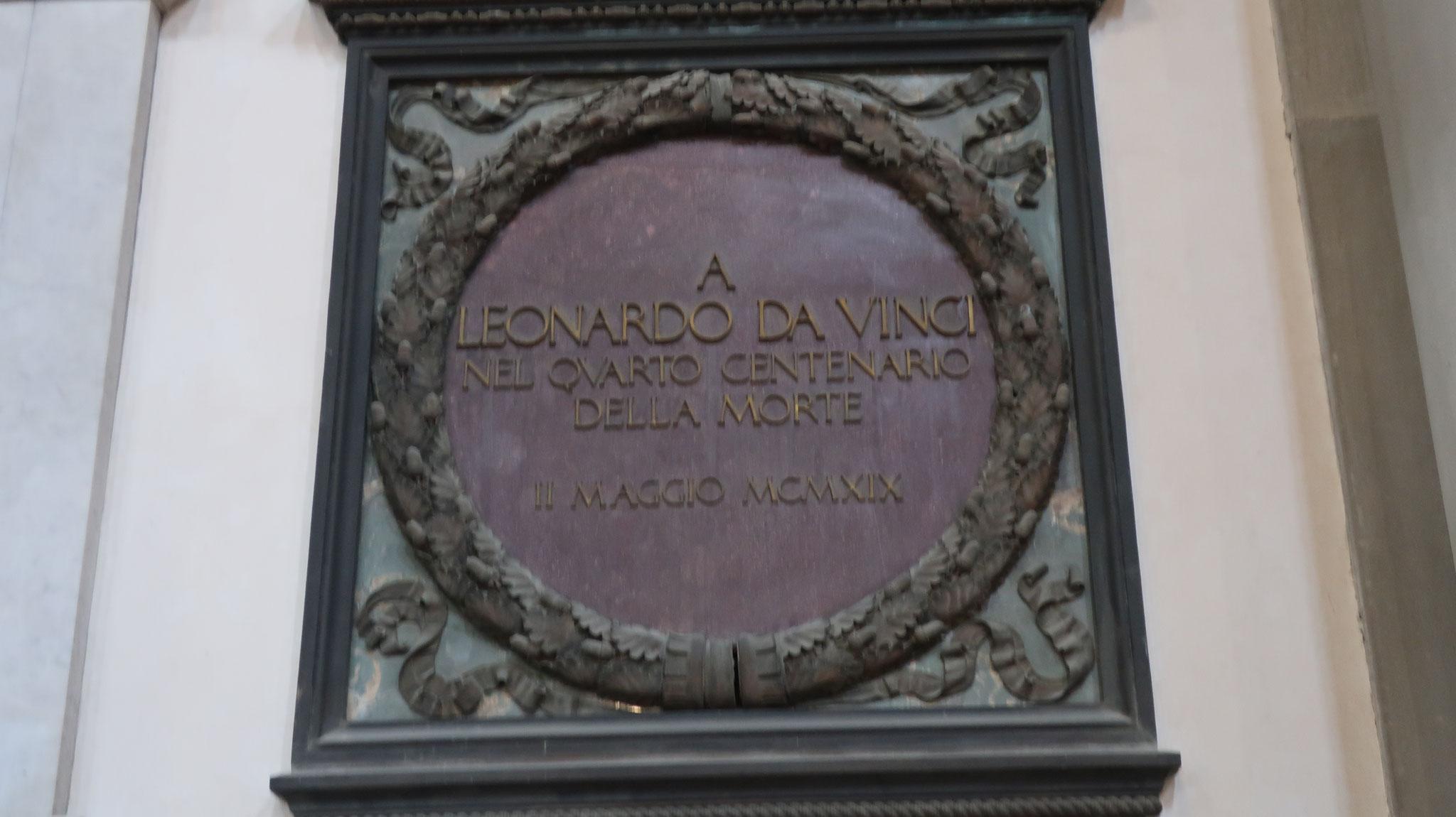教会内にあるレオナルド・ダ・ヴィンチの墓