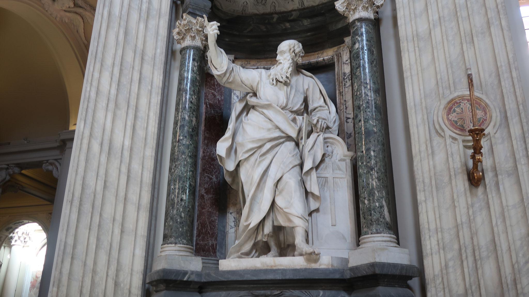 トマス。十二使徒の一人。イエスが復活した時、その腹の傷に自分の指を差し込み確認したため「疑い深いトマス」と呼ばれます。