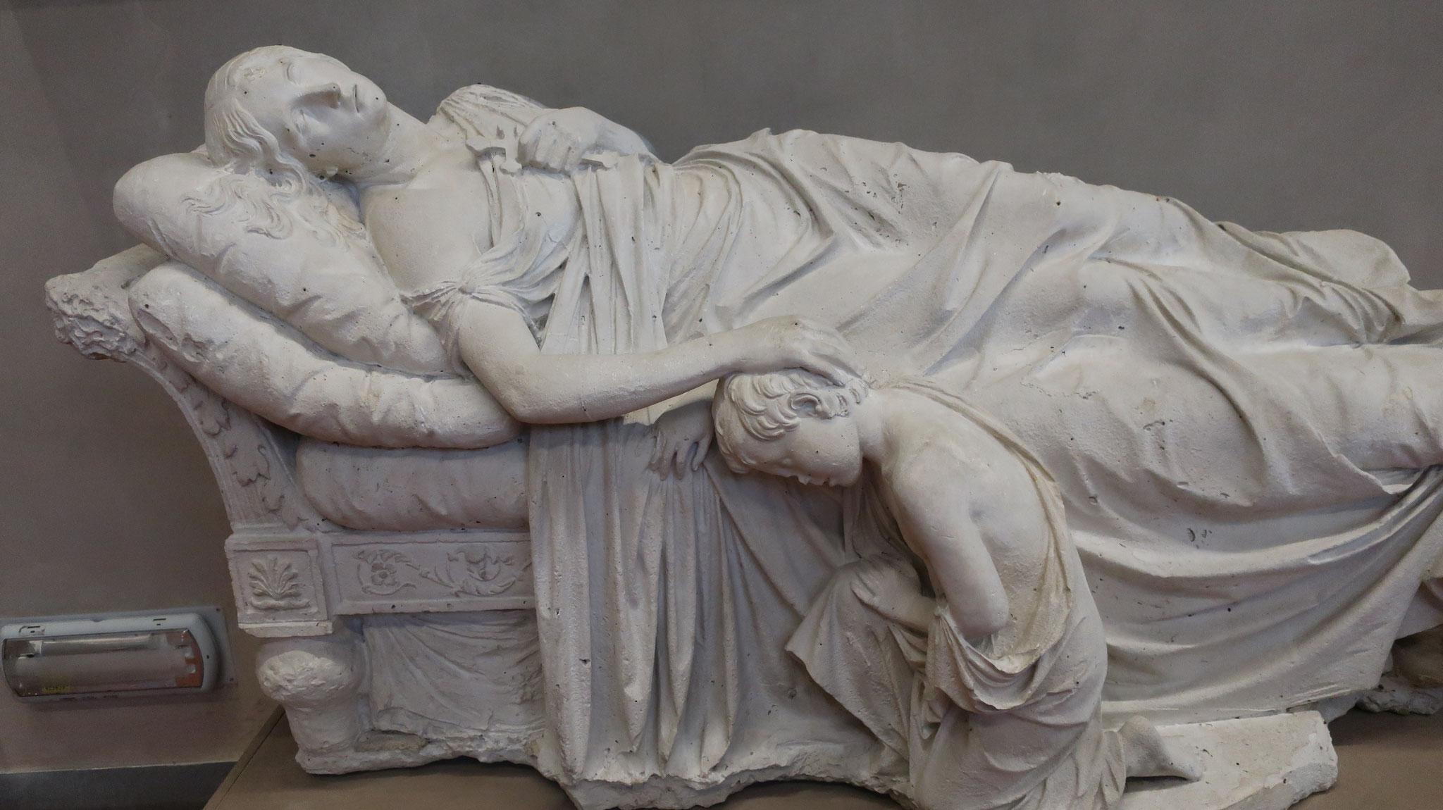 幼年期のジグムント・クラシンスキー(後に詩人)と、その母マリアの死