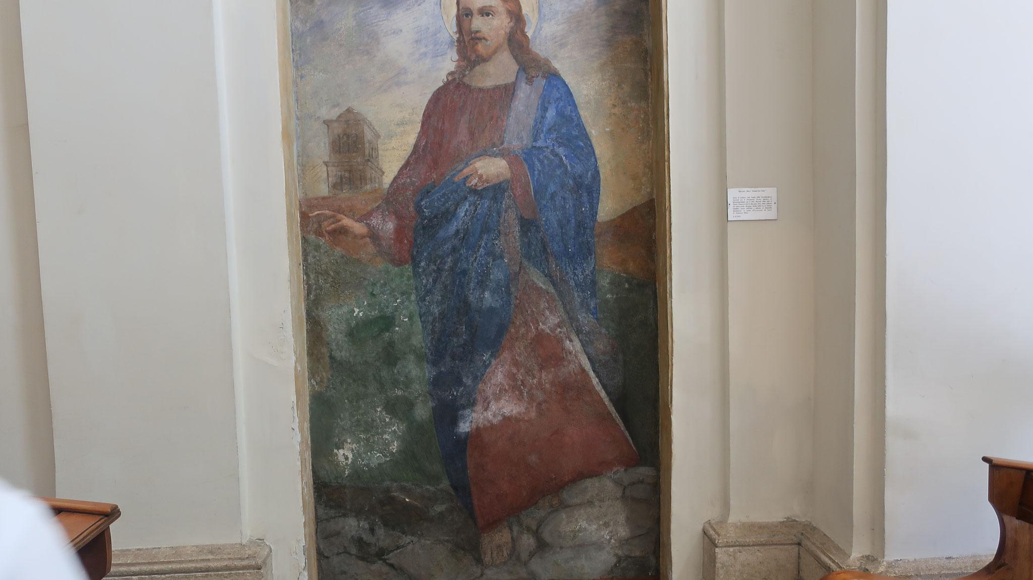 イエスは「ローマへ行き、十字架に架けられる」と答えました。これを聞き、ペトロは再びローマへ戻り、逆さ十字架の刑に処せられ、殉教しました。